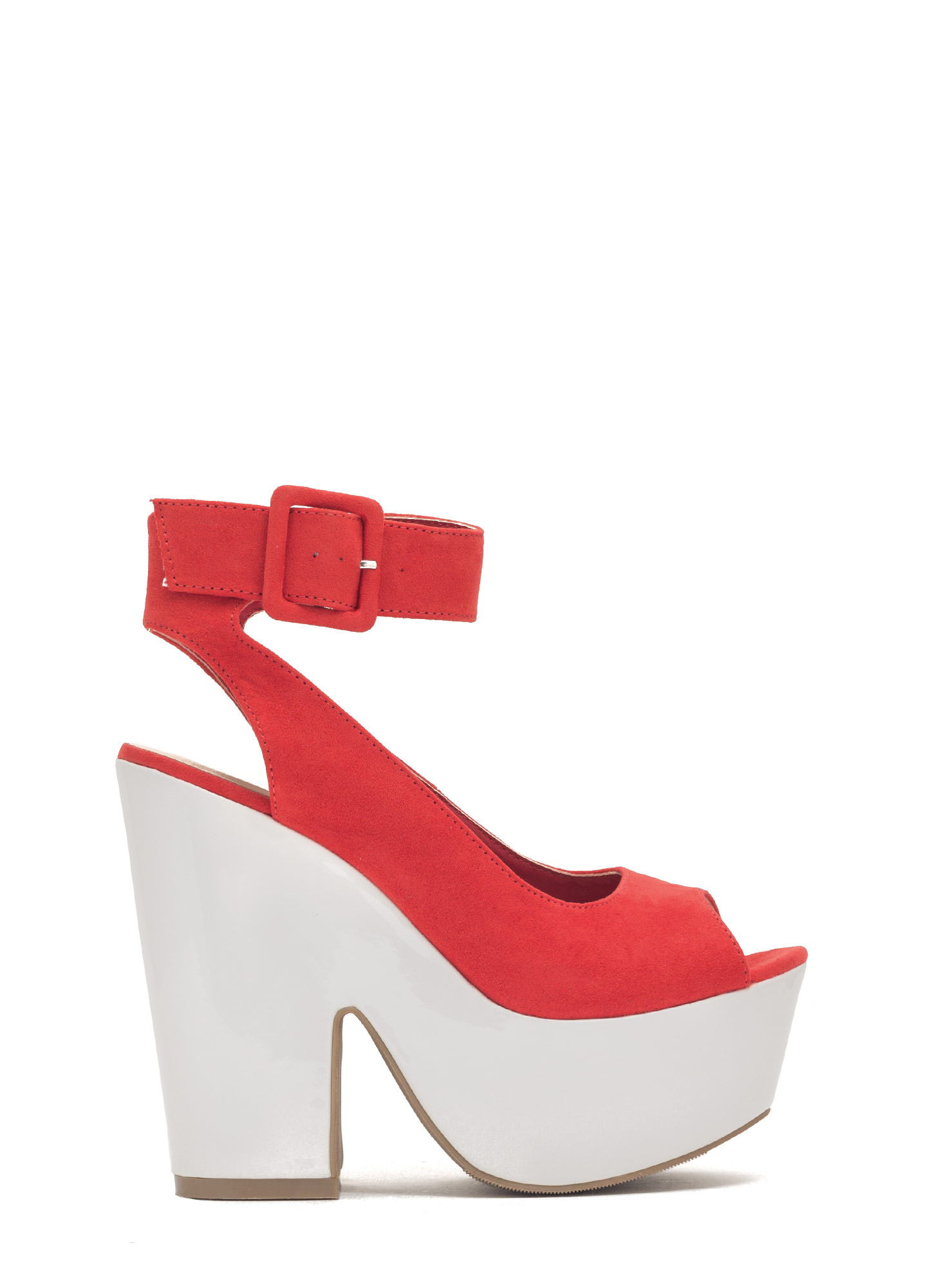 Thru Thick 'N Thin Platform Heels ORANGE