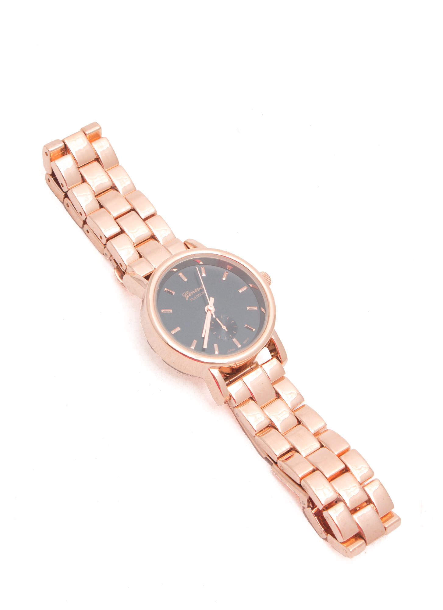 Simply Irresistible Brick Link Watch BLKROSEGLD