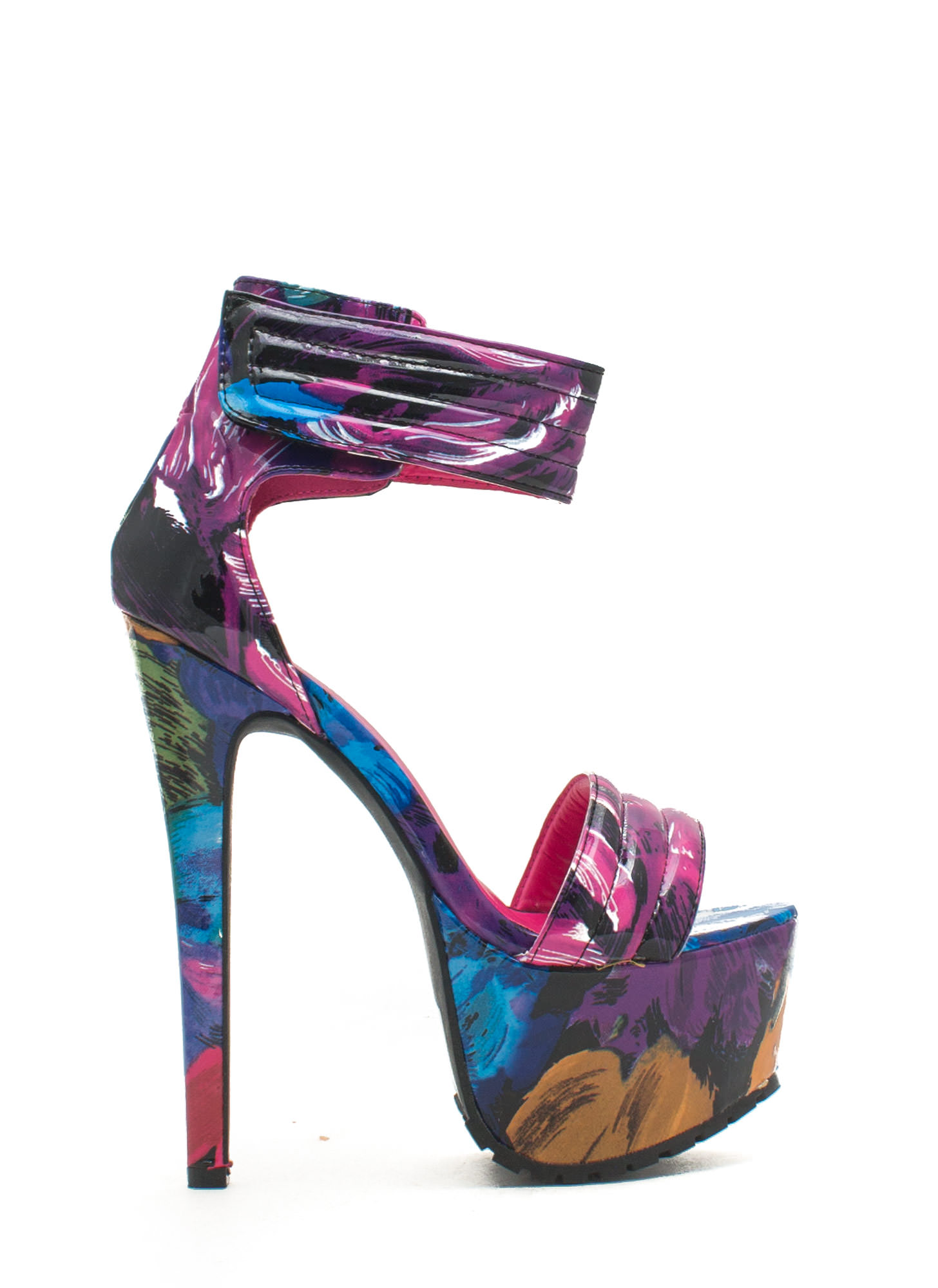 Pretty In Paint Faux Patent Platforms FUCHMULTI