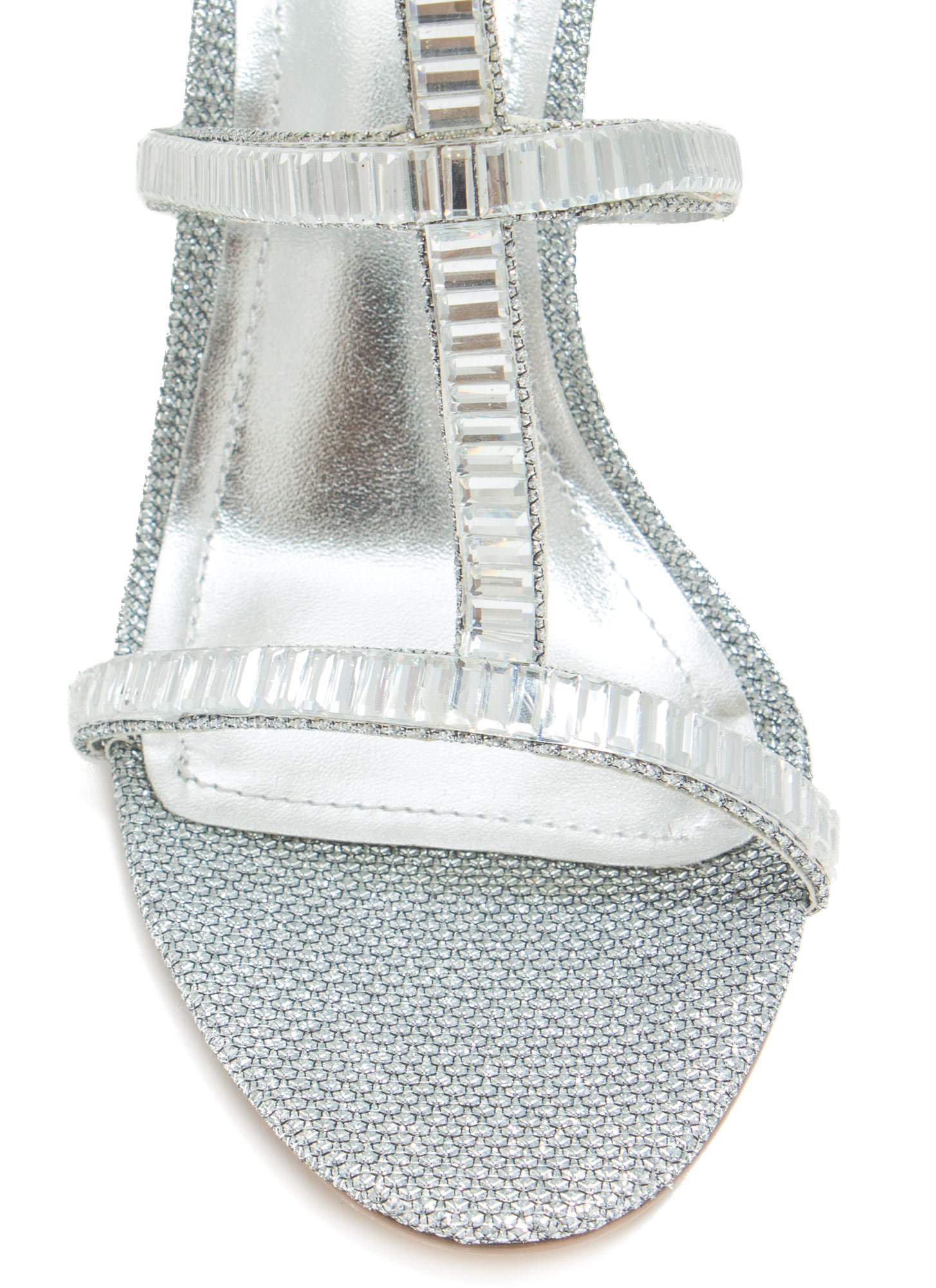 Moonlit Dancer Faux Jewel Stiletto Heels SILVER