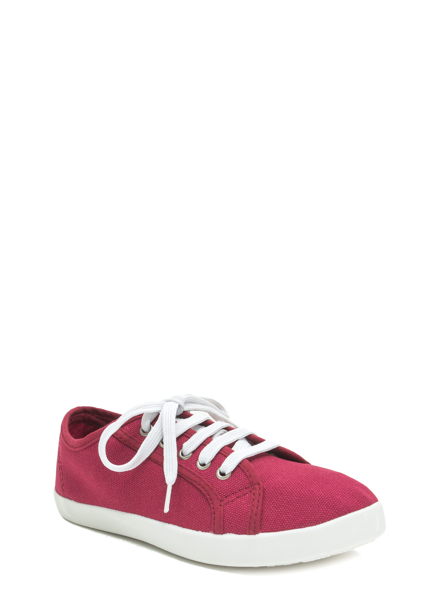 Off-Duty Classic Canvas Sneakers BERRY