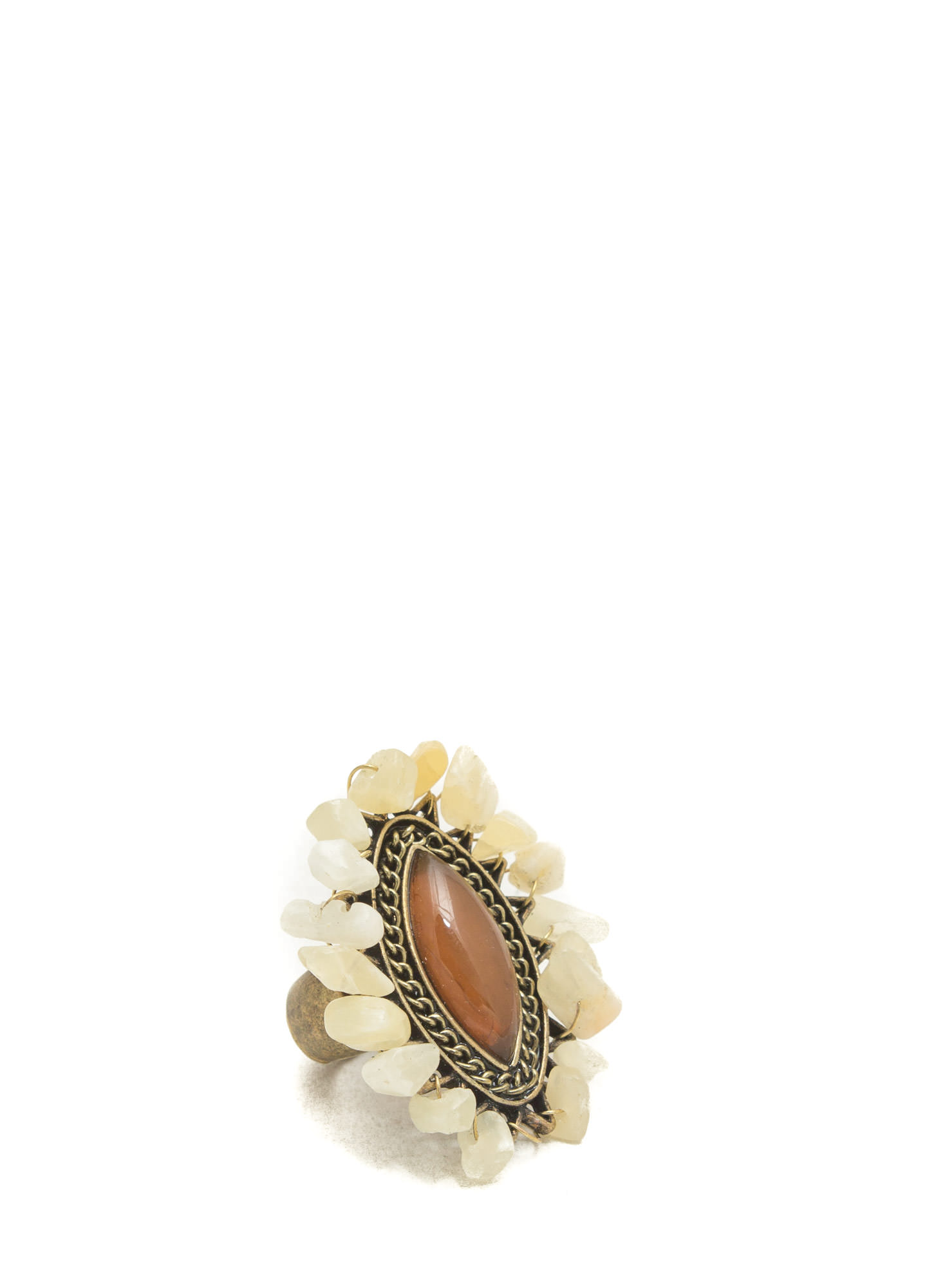 Free Spirit Faux Stone Ring BROWNMULTI