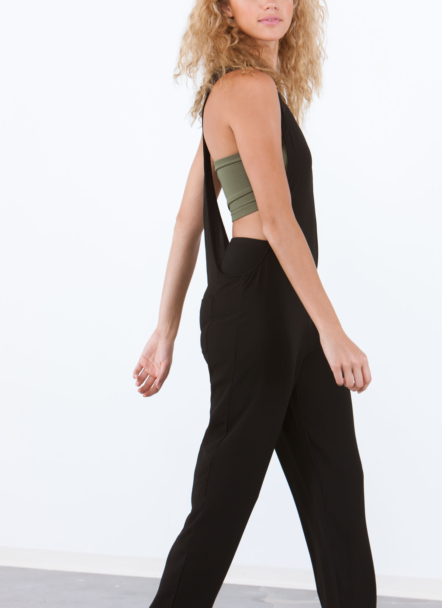 Into The Deep End Muscle Jumpsuit BLACK