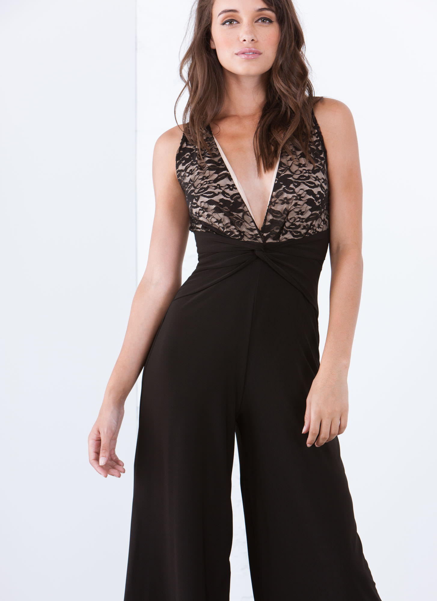 Lace Is More Palazzo Jumpsuit BLACK
