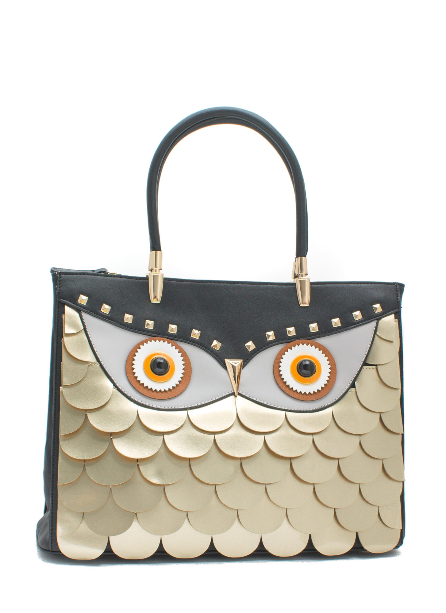 You're A Hoot Owl Faux Leather Handbag BLKMULTI