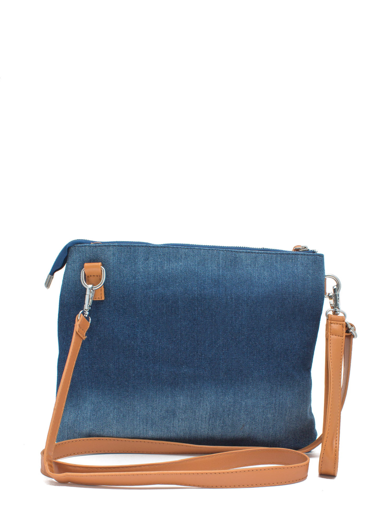 Ur Mom Goes 2 College Denim Clutch BLUE