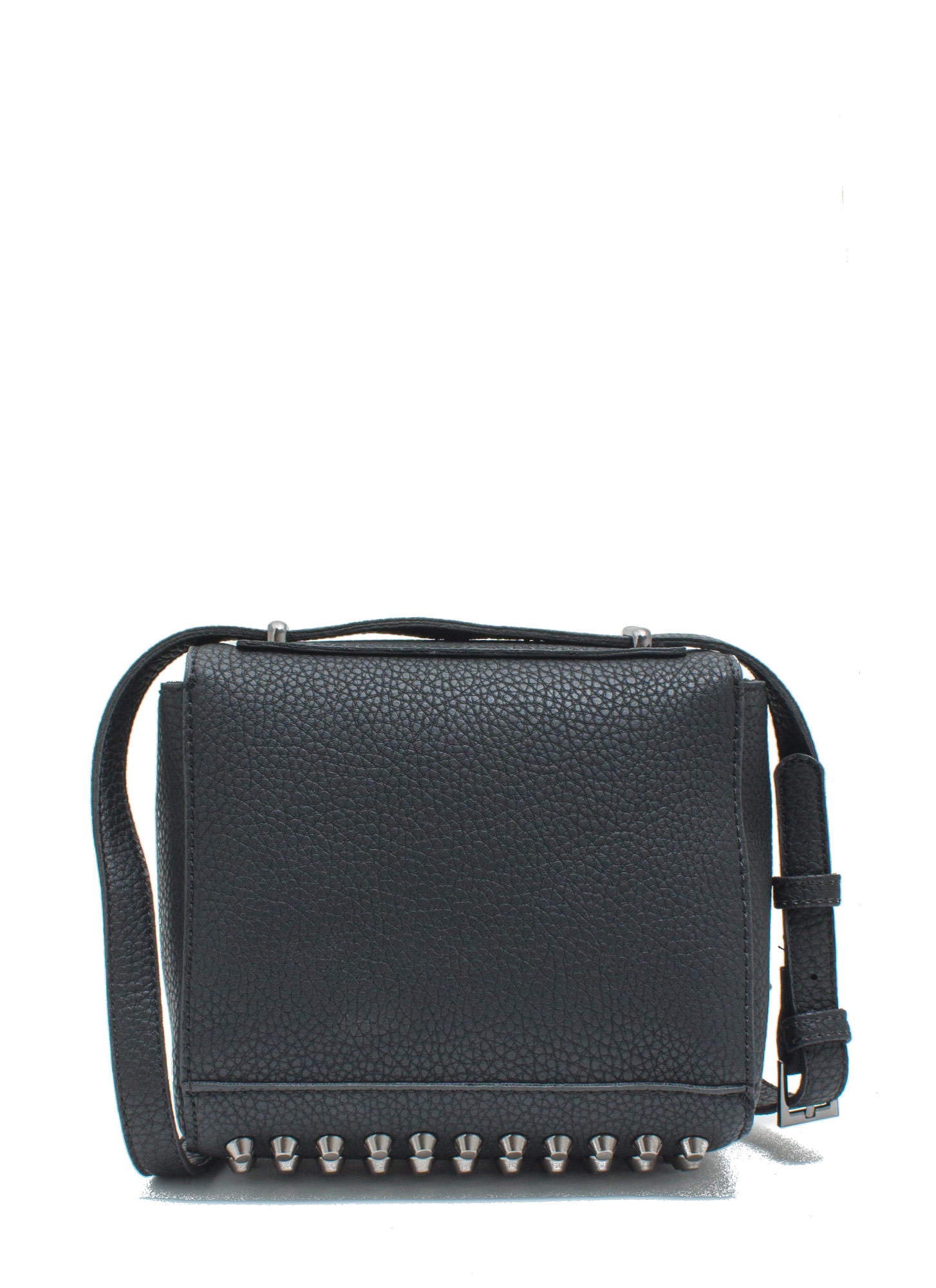 Rocker Studded Cross-Body Bag BLACK