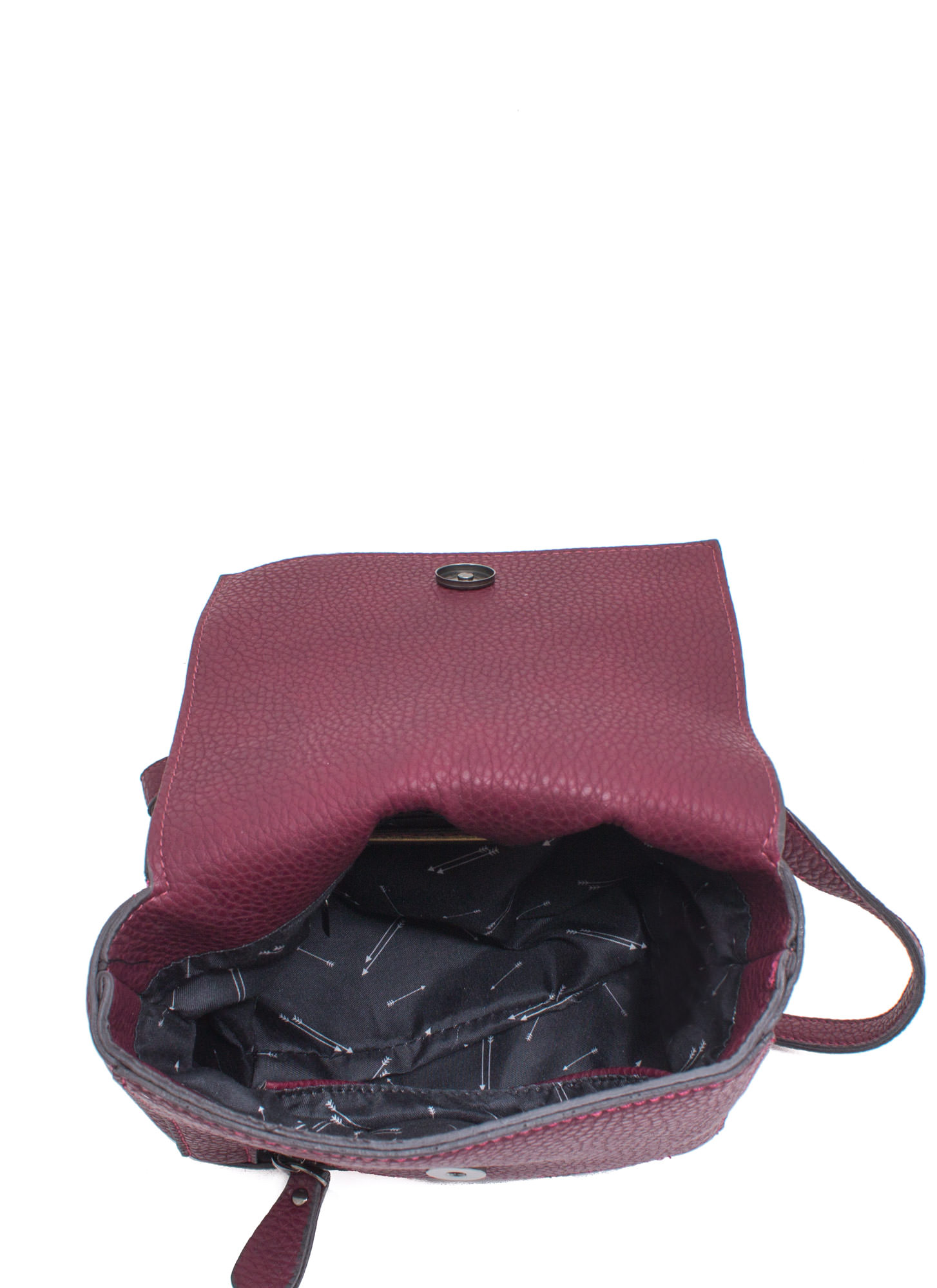 Rocker Studded Cross-Body Bag BURGUNDY