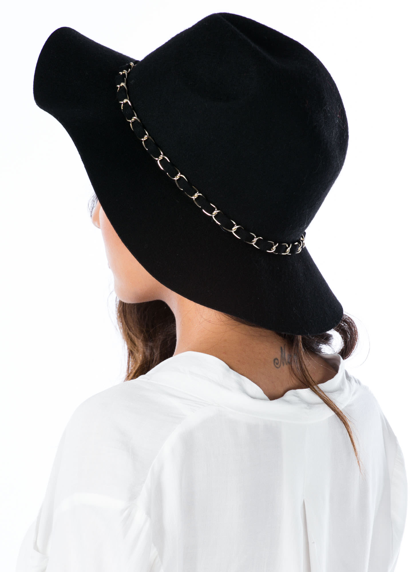 Chain-ge The World Wool Panama Hat BLACK
