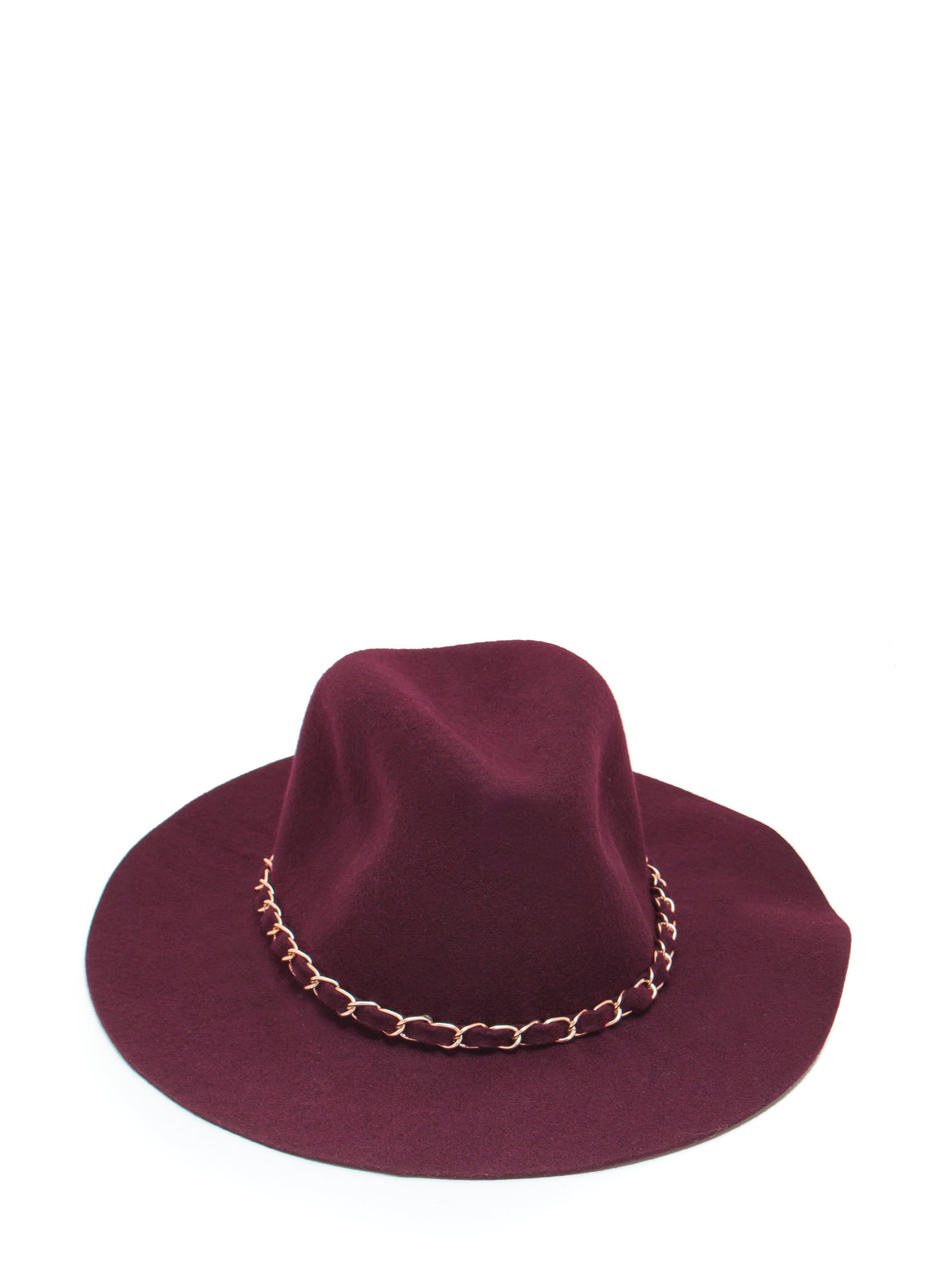 Chain-ge The World Wool Panama Hat BURGUNDY