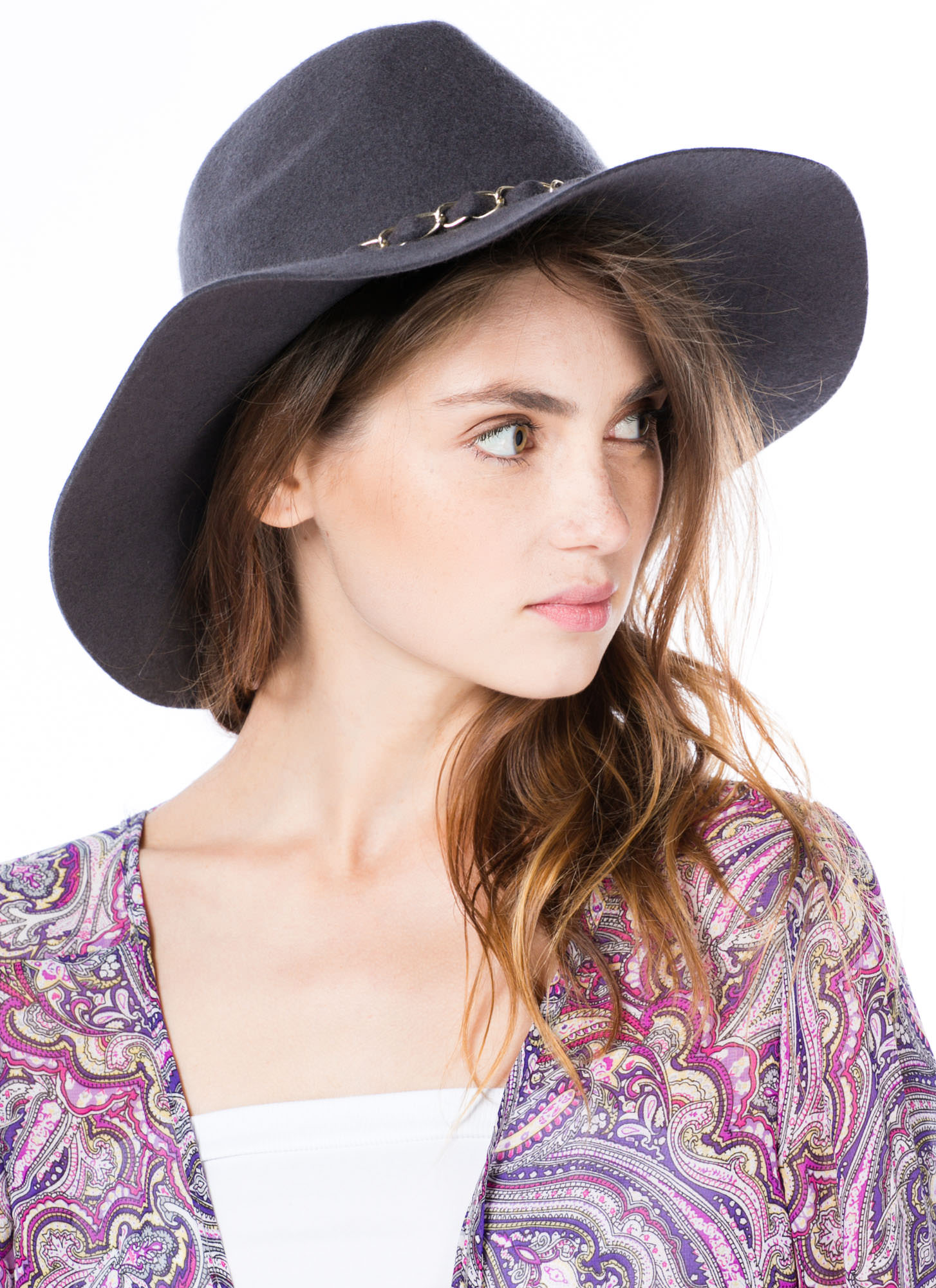 Chain-ge The World Wool Panama Hat GREY