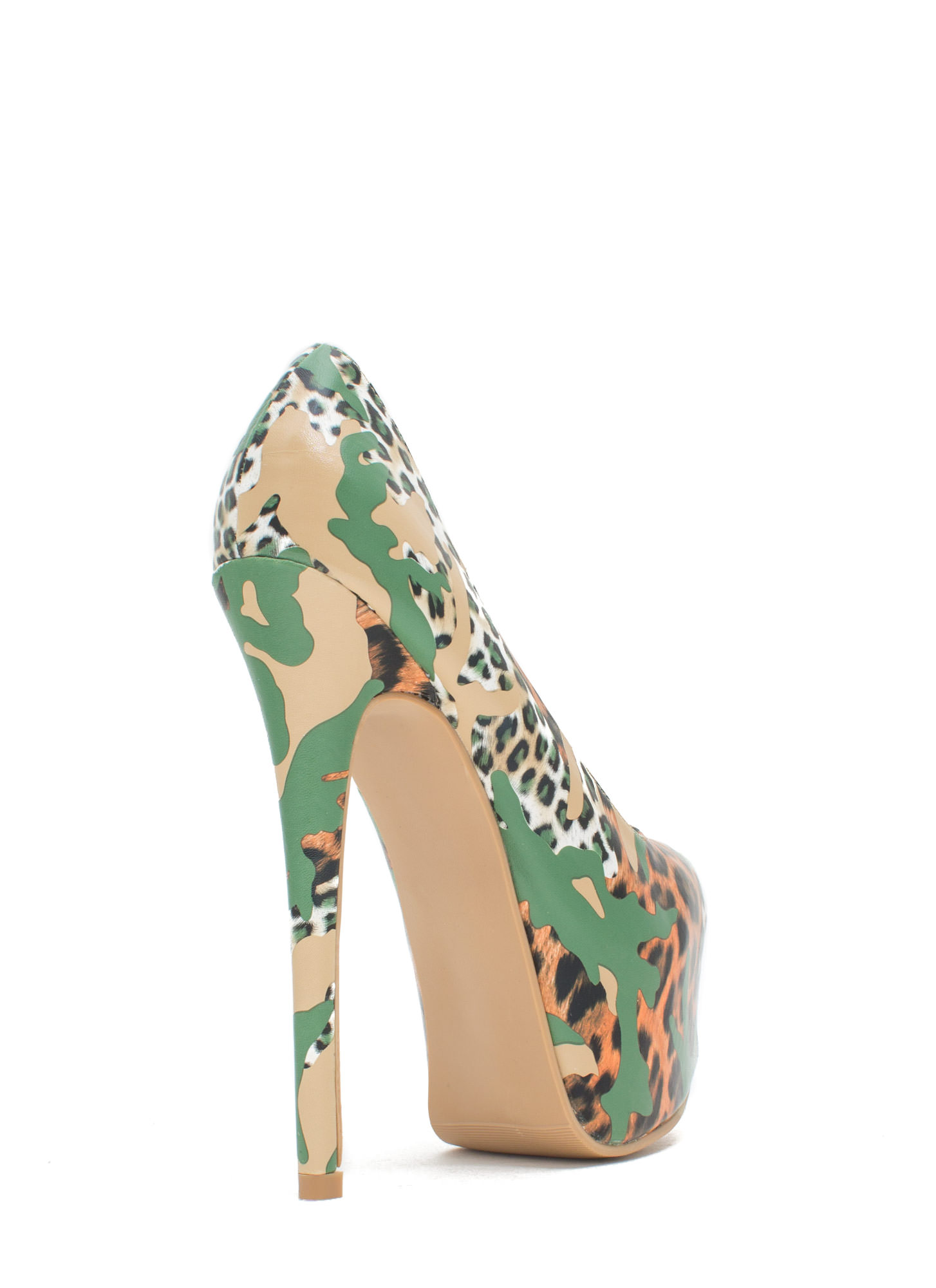 Wild Statement Platform Stiletto Heels LEOPARD