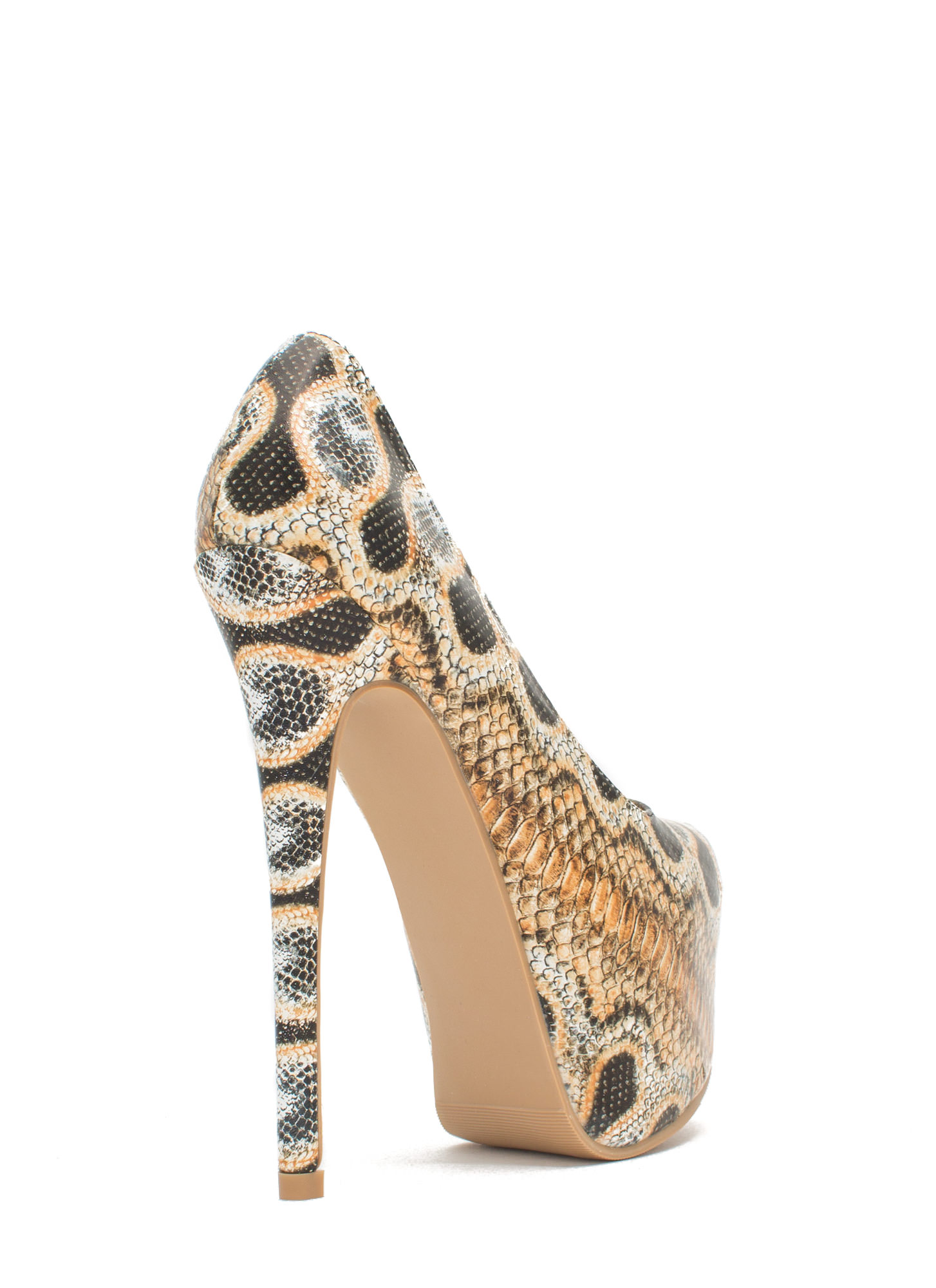 Wild Statement Platform Stiletto Heels PYTHON