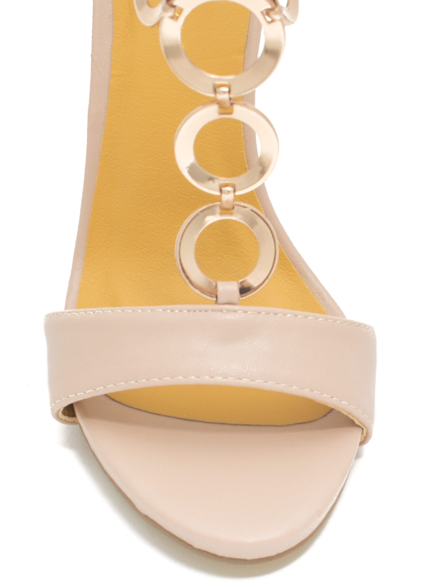 Around The Ring Faux Leather Heels CAMEL