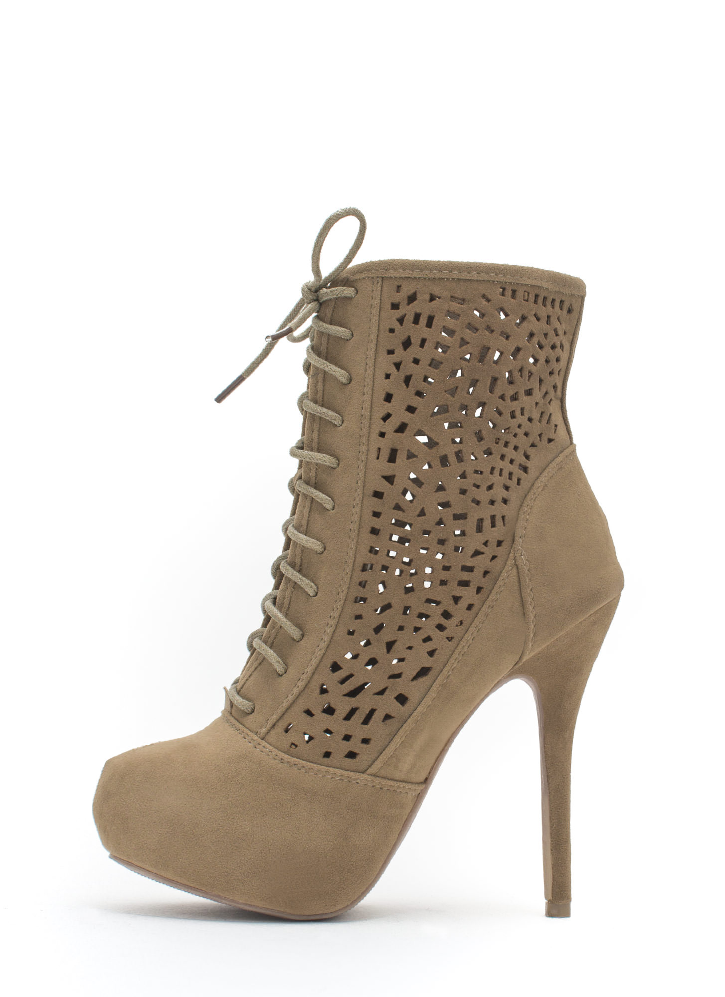 Holey Spirit Perforated Booties TAUPE