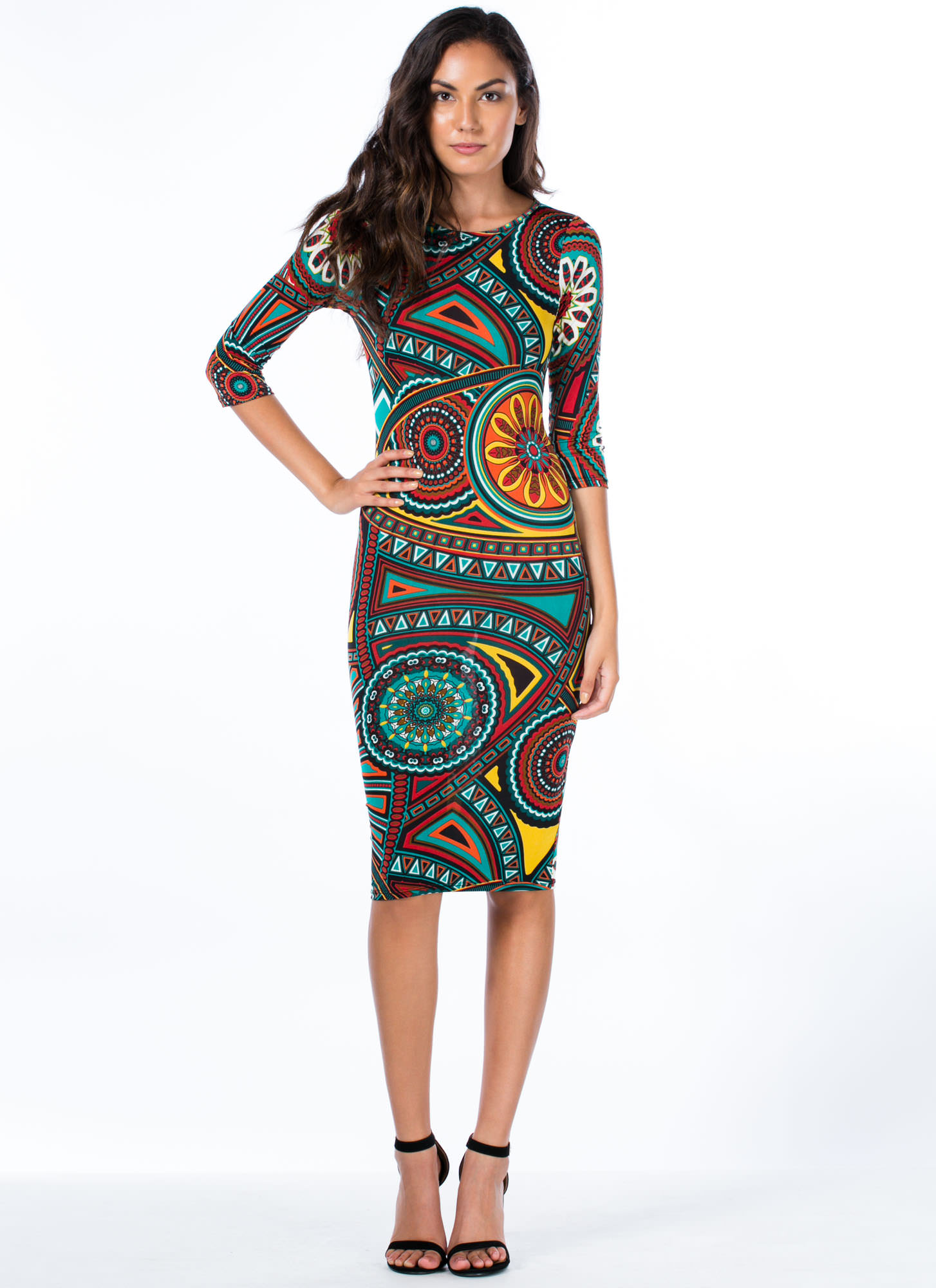 You Deserve A Medallion Midi Dress JADE
