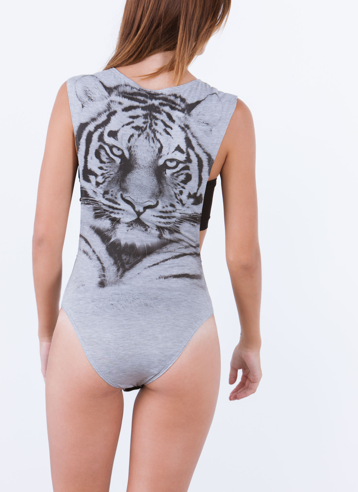 Eyes Of The Tiger Muscle Bodysuit GREY
