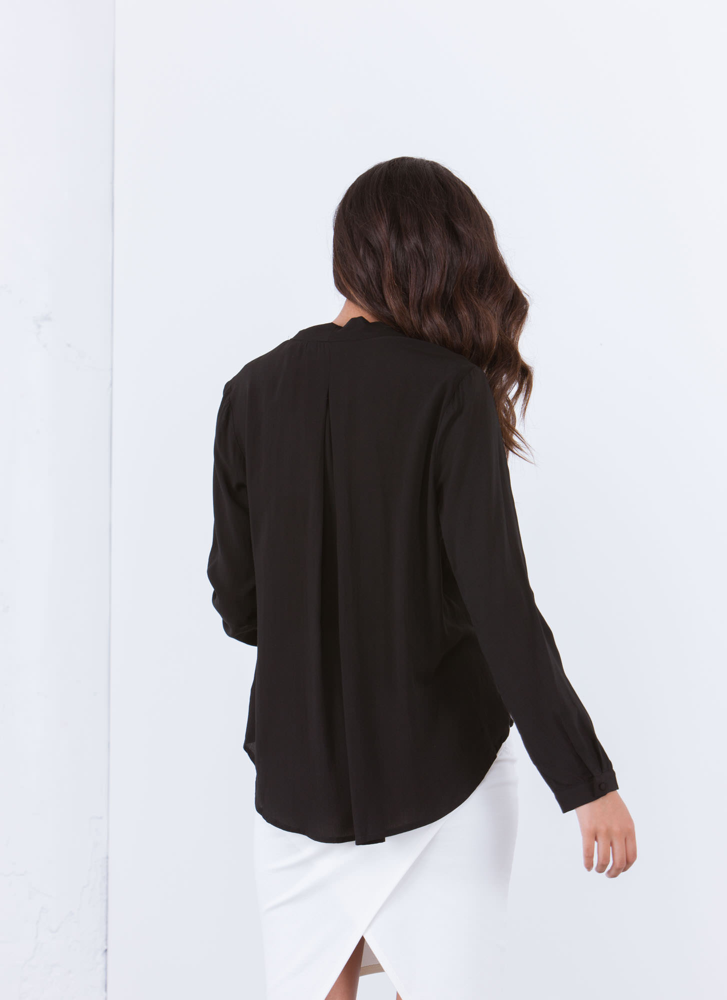 Work 'N Play Utility Blouse BLACK