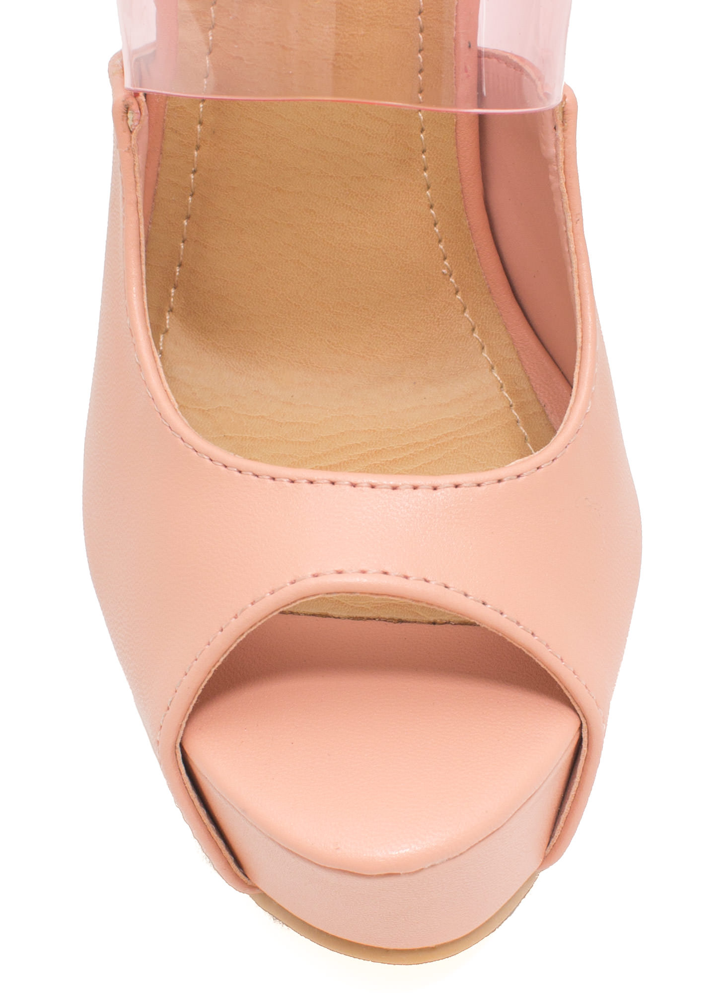 PVC You Soon In Peep-Toe Platforms BLUSH