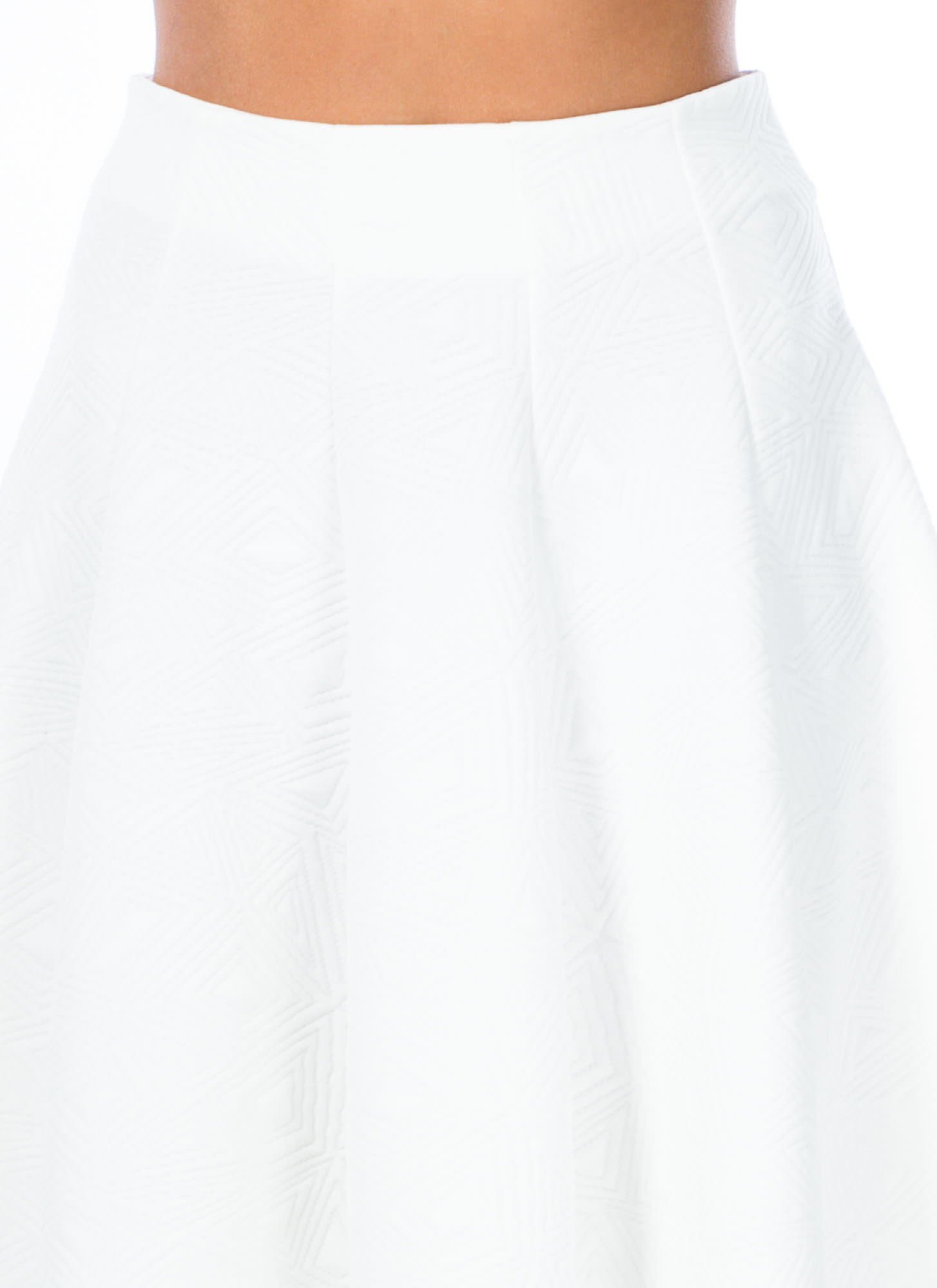 Taking Shape Stitched Skirt WHITE