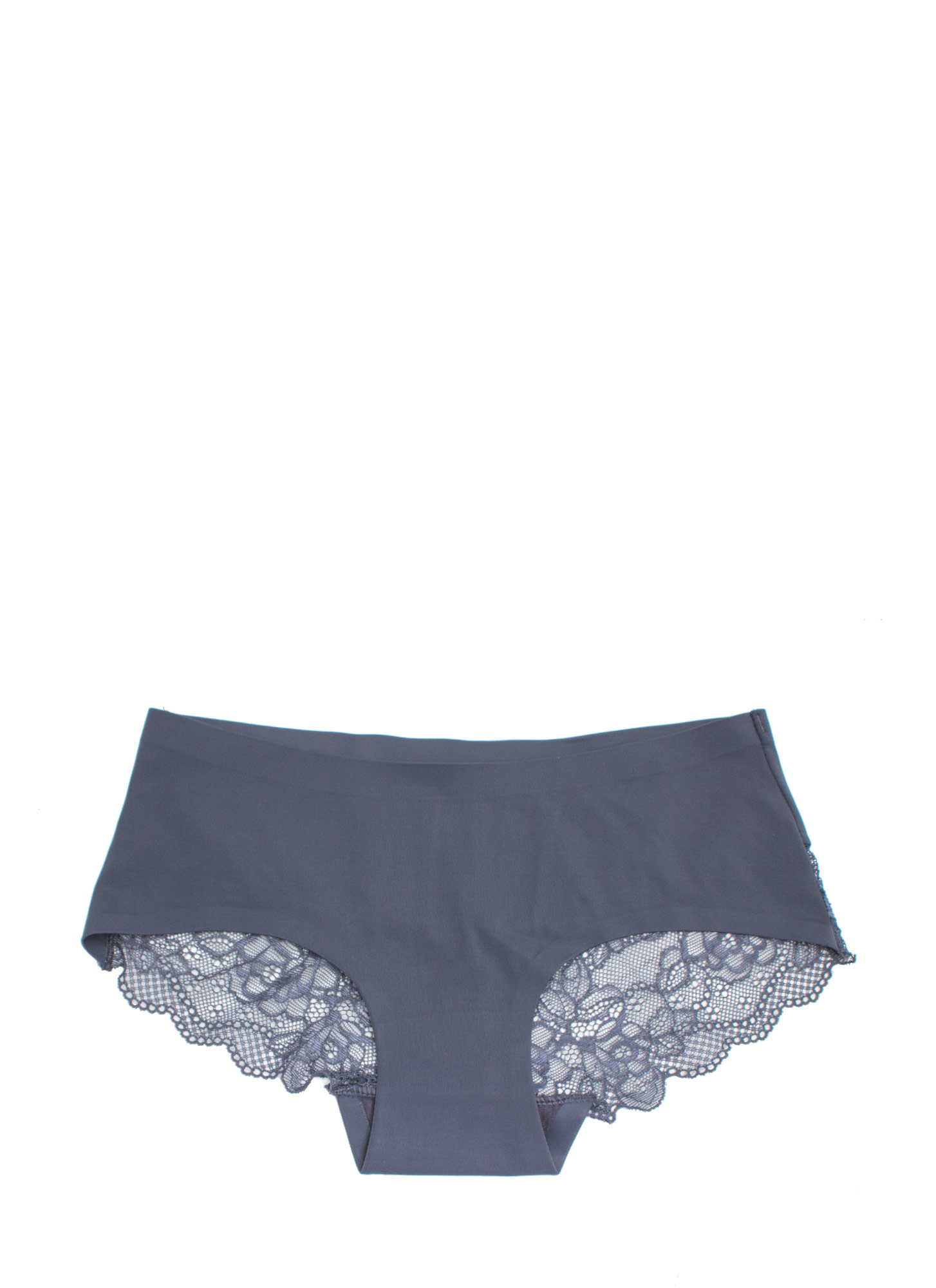 Lace Yourself Seamless Briefs CHARCOAL