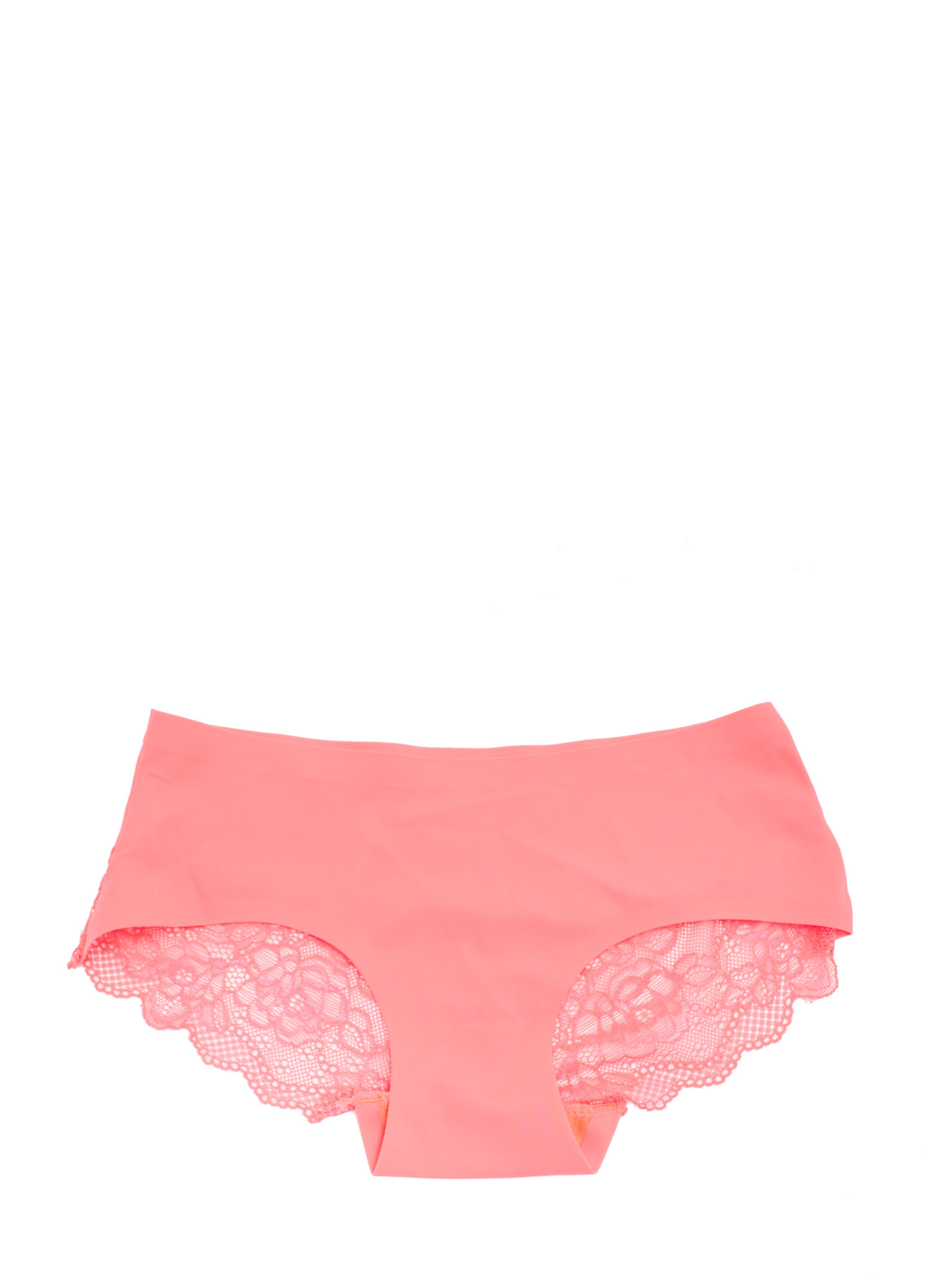 Lace Yourself Seamless Briefs NEONCORAL