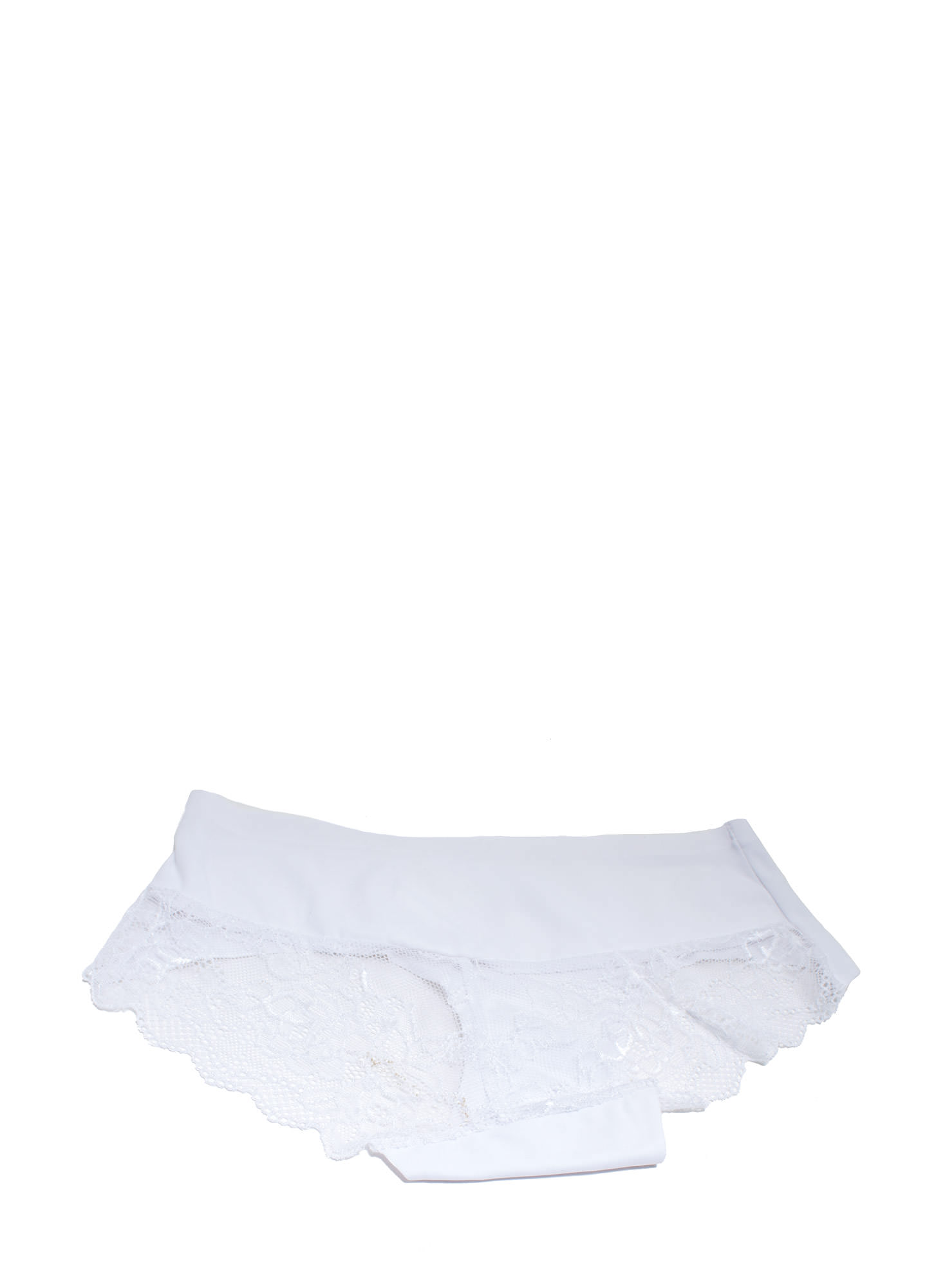 Lace Yourself Seamless Briefs WHITE