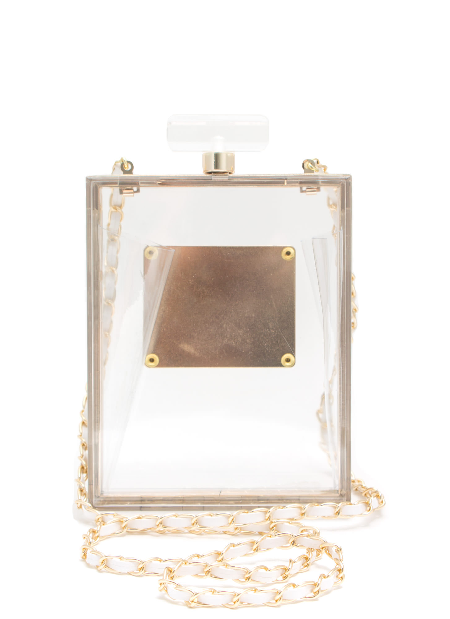 Parfum Paris Perfume Bottle Box Clutch CLEAR