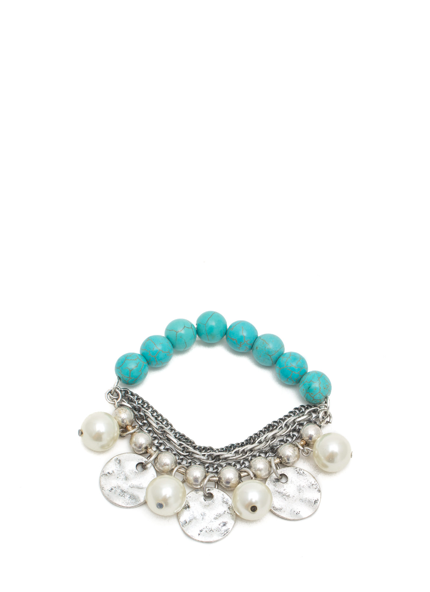 Pearly Whites Layered Bracelet TURQSILVER
