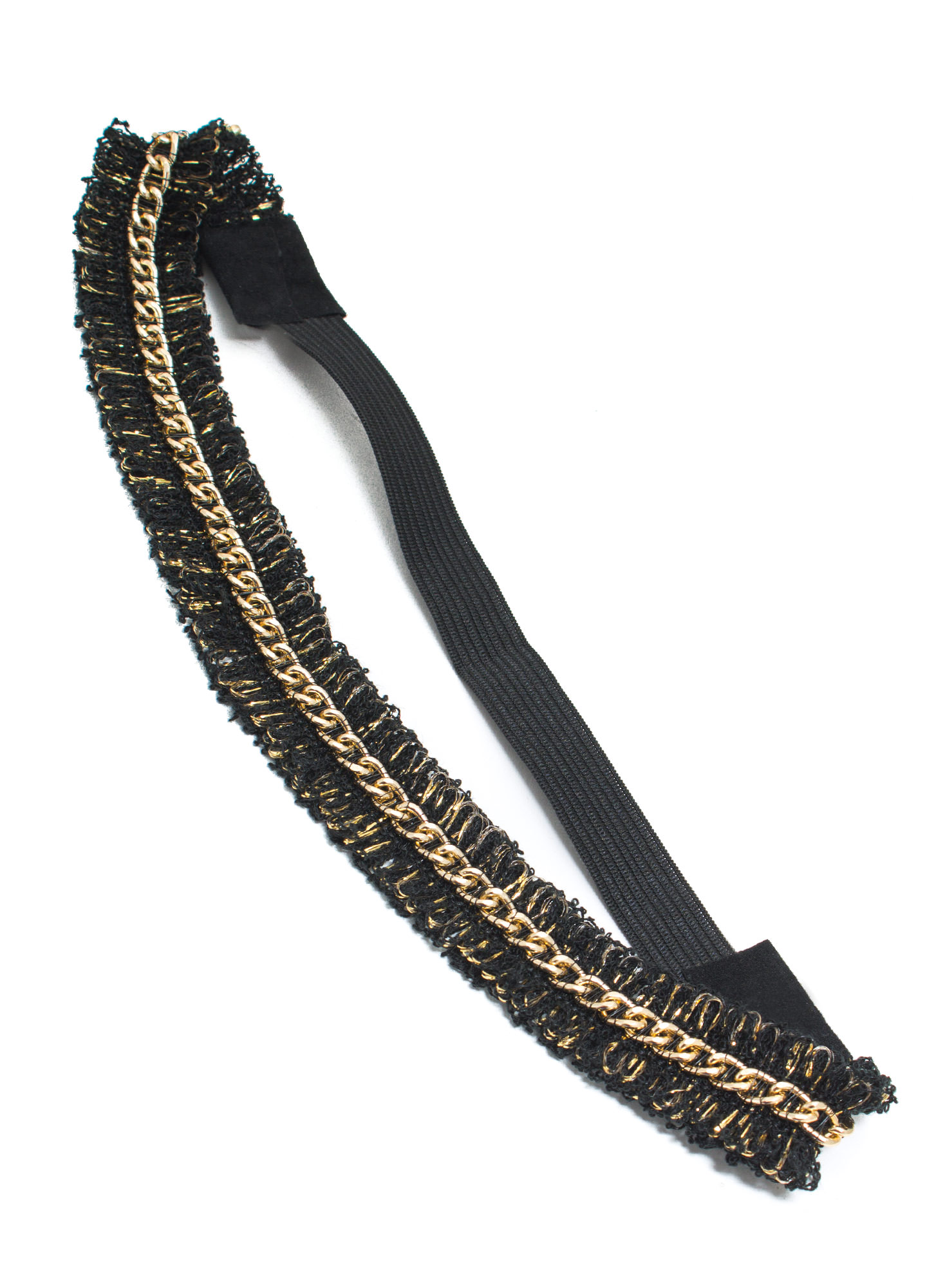 Loopy Fringe Chain Headband BLACKGOLD
