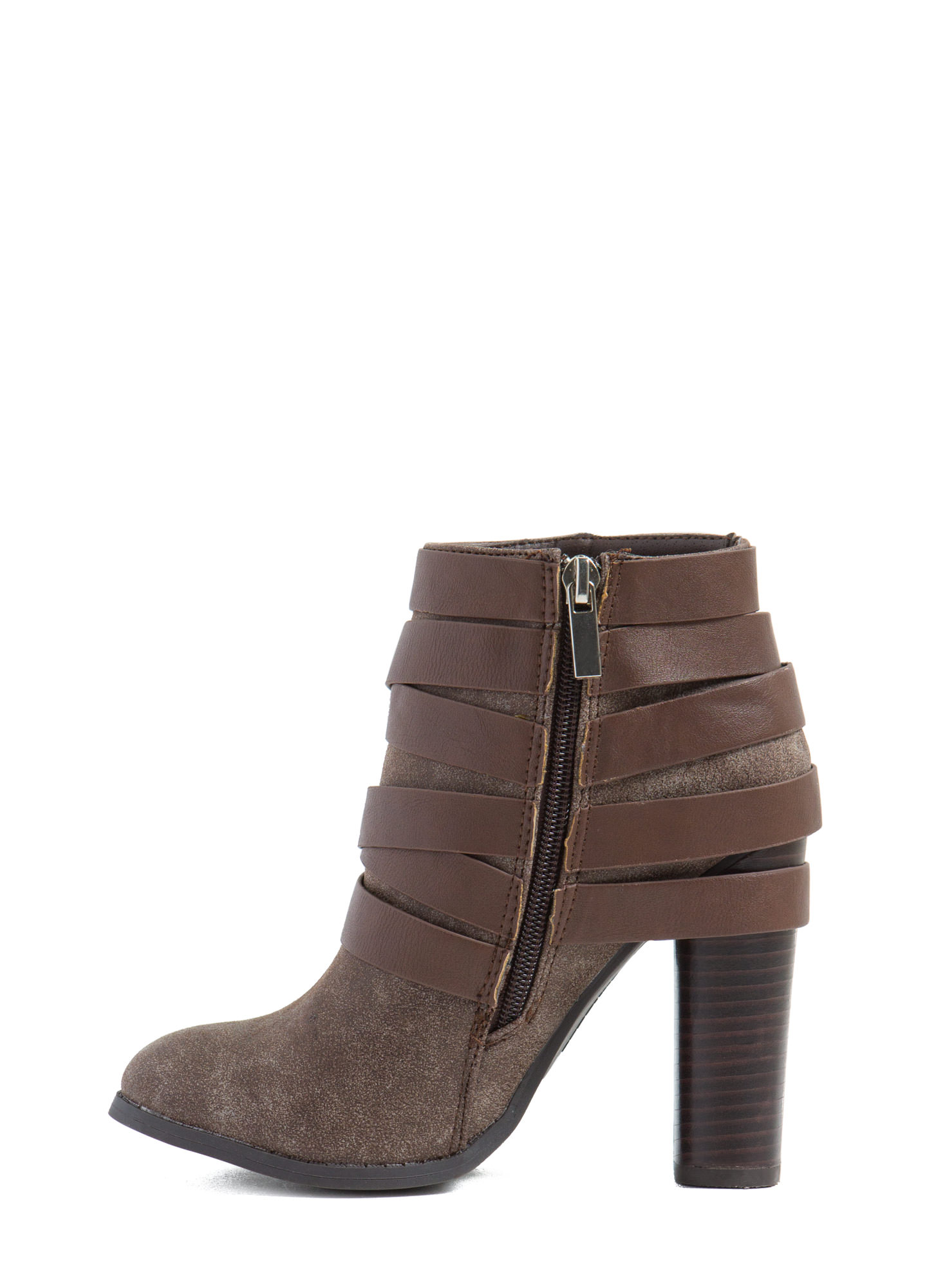 That's A Wrap Studded Booties BROWN