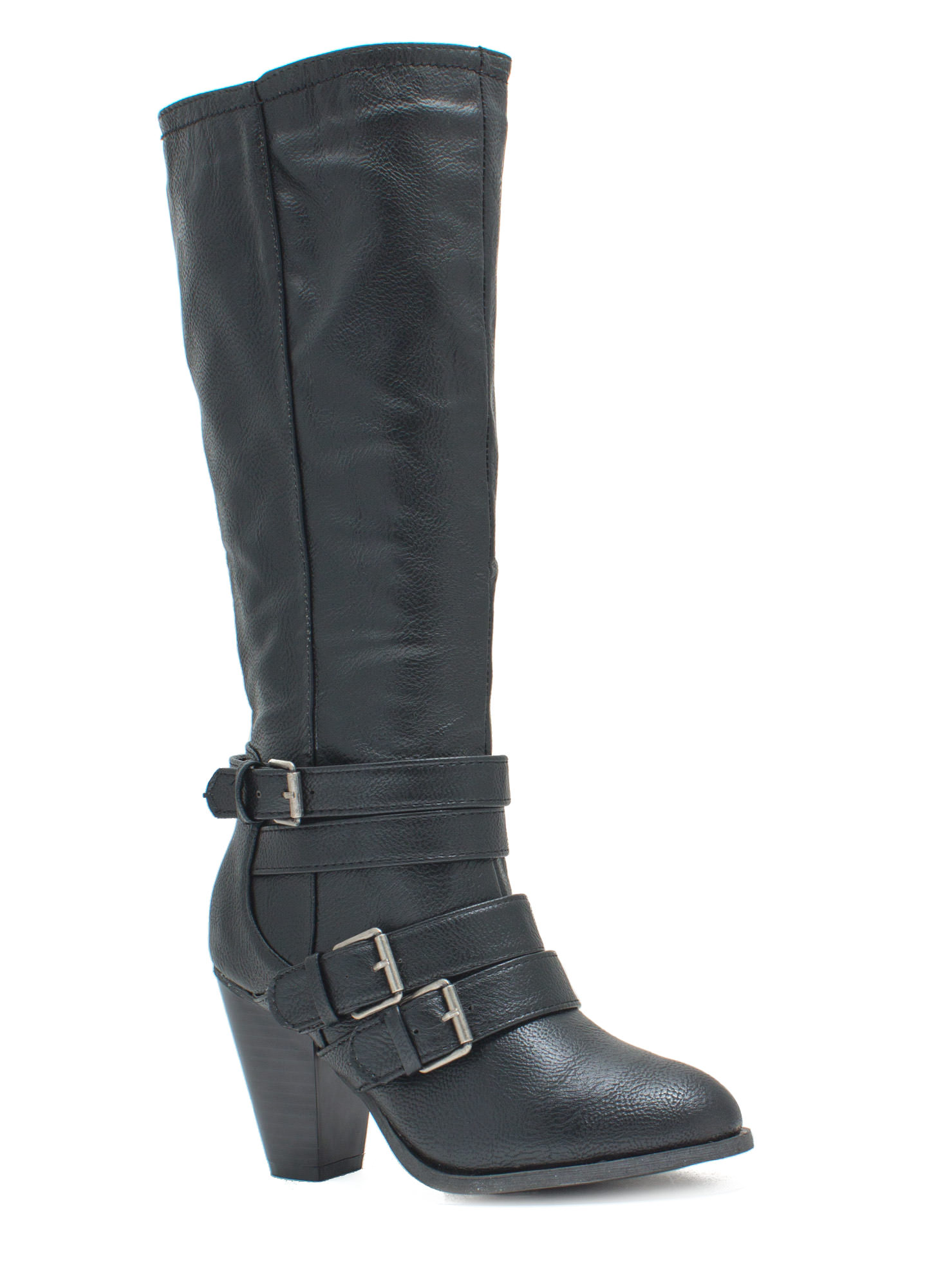 It's A Wrap Heeled Boots BLACK