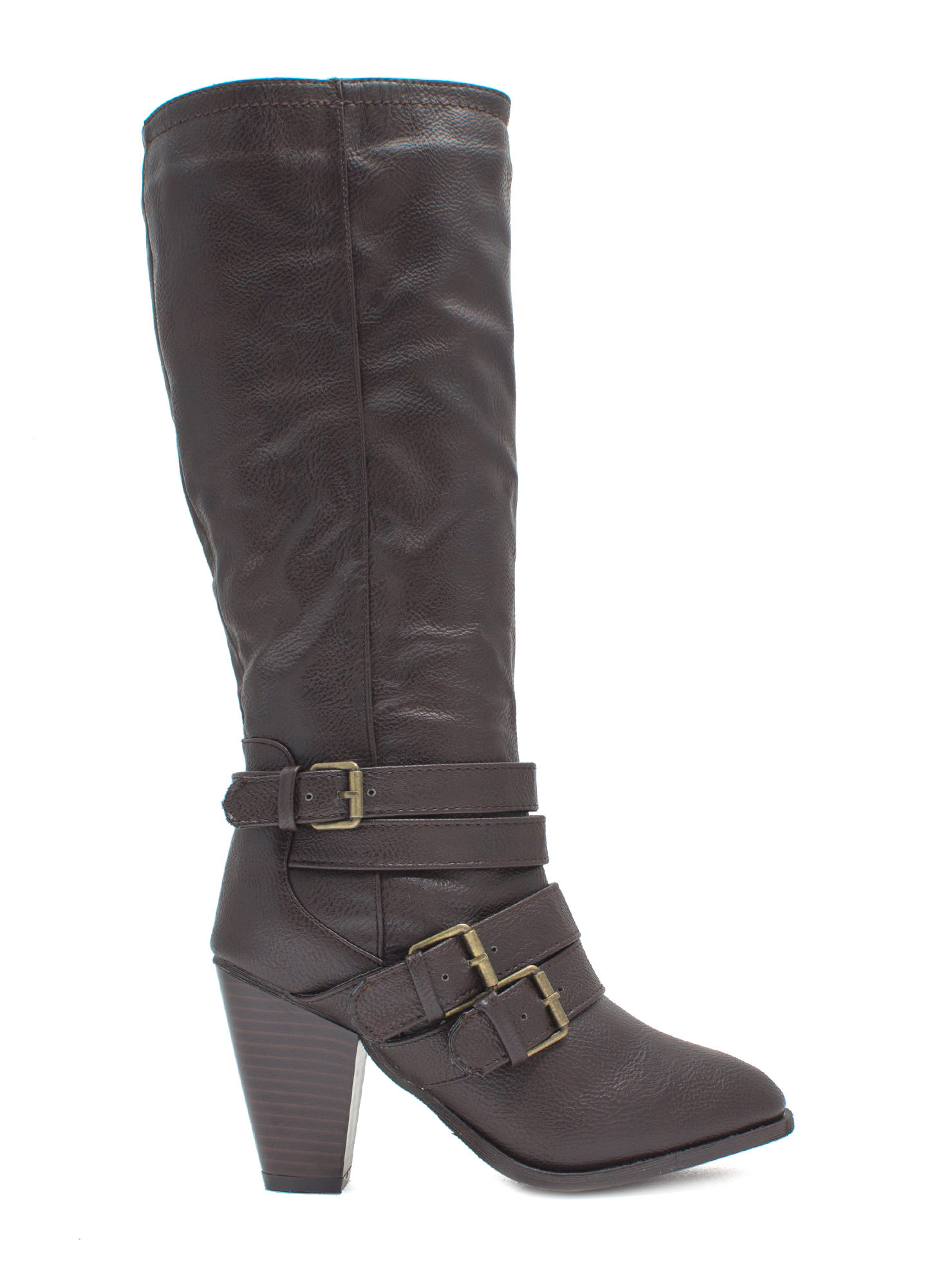 It's A Wrap Heeled Boots BROWN (Final Sale)