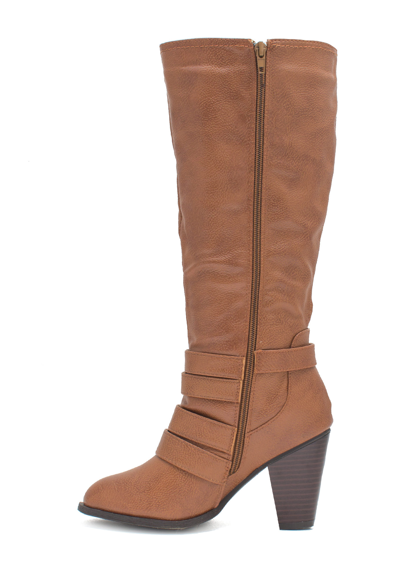 It's A Wrap Heeled Boots CHESTNUT