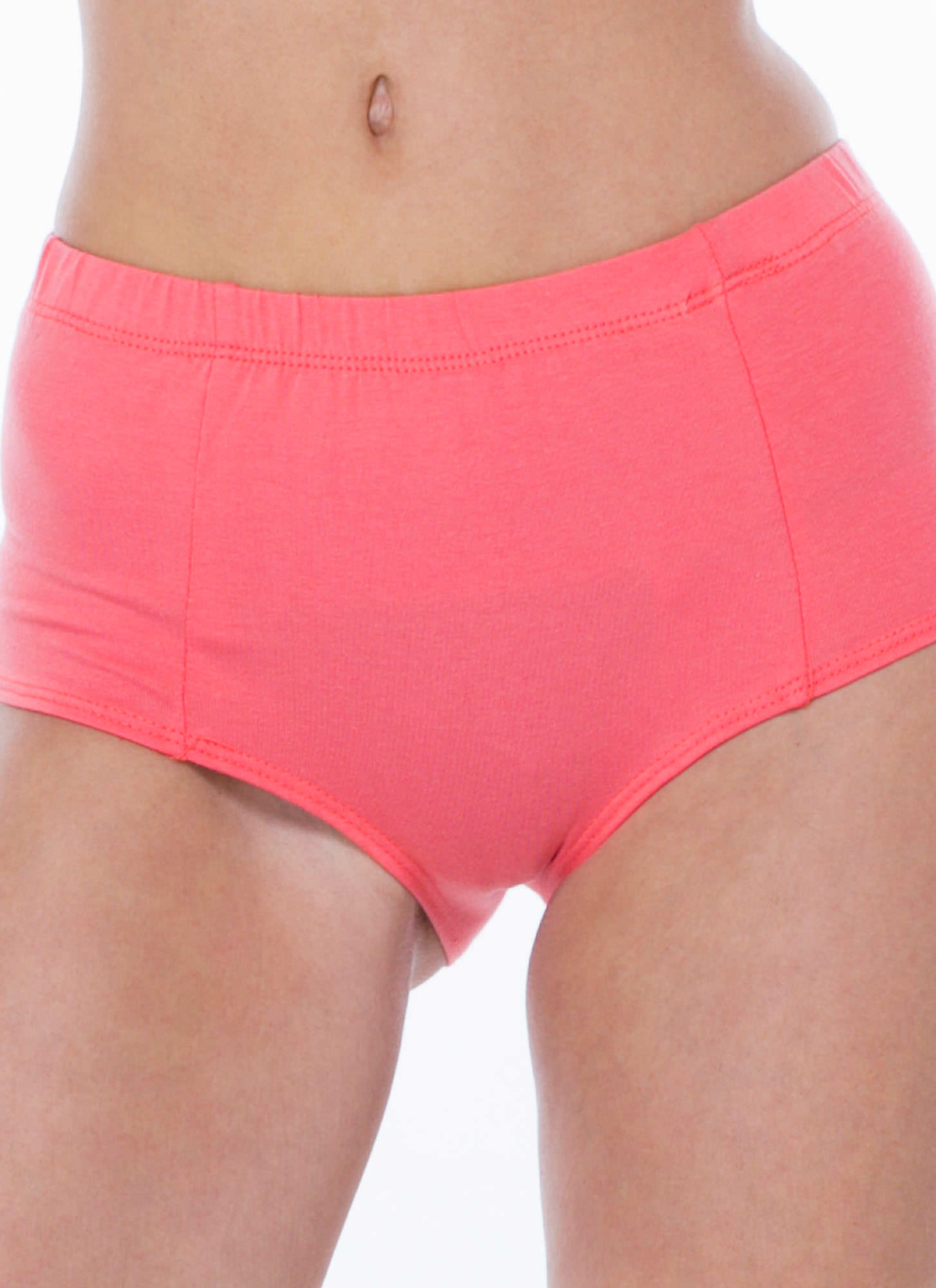 Go Undercover High-Waisted Briefs CORAL