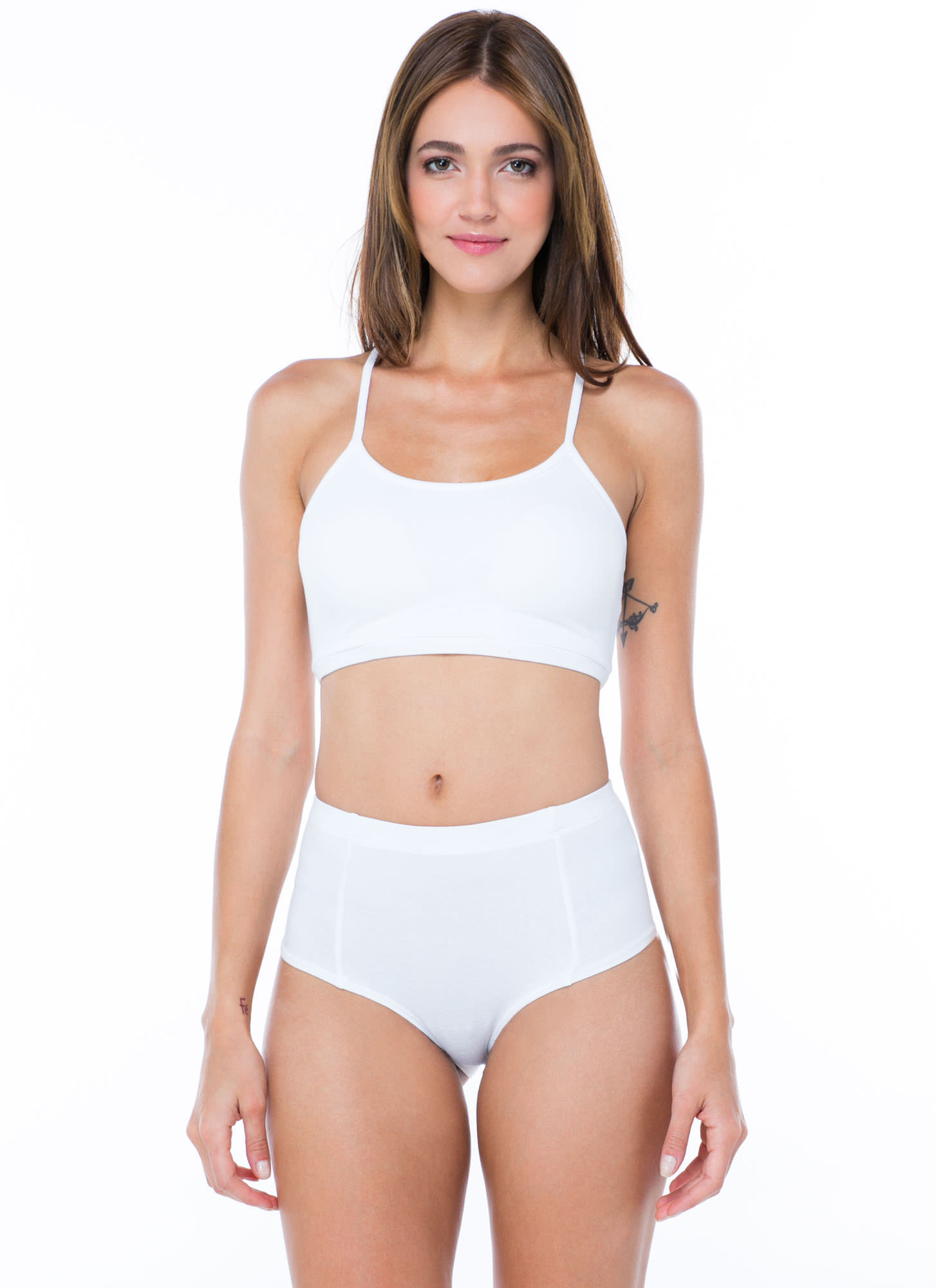 Go Undercover High-Waisted Briefs WHITE