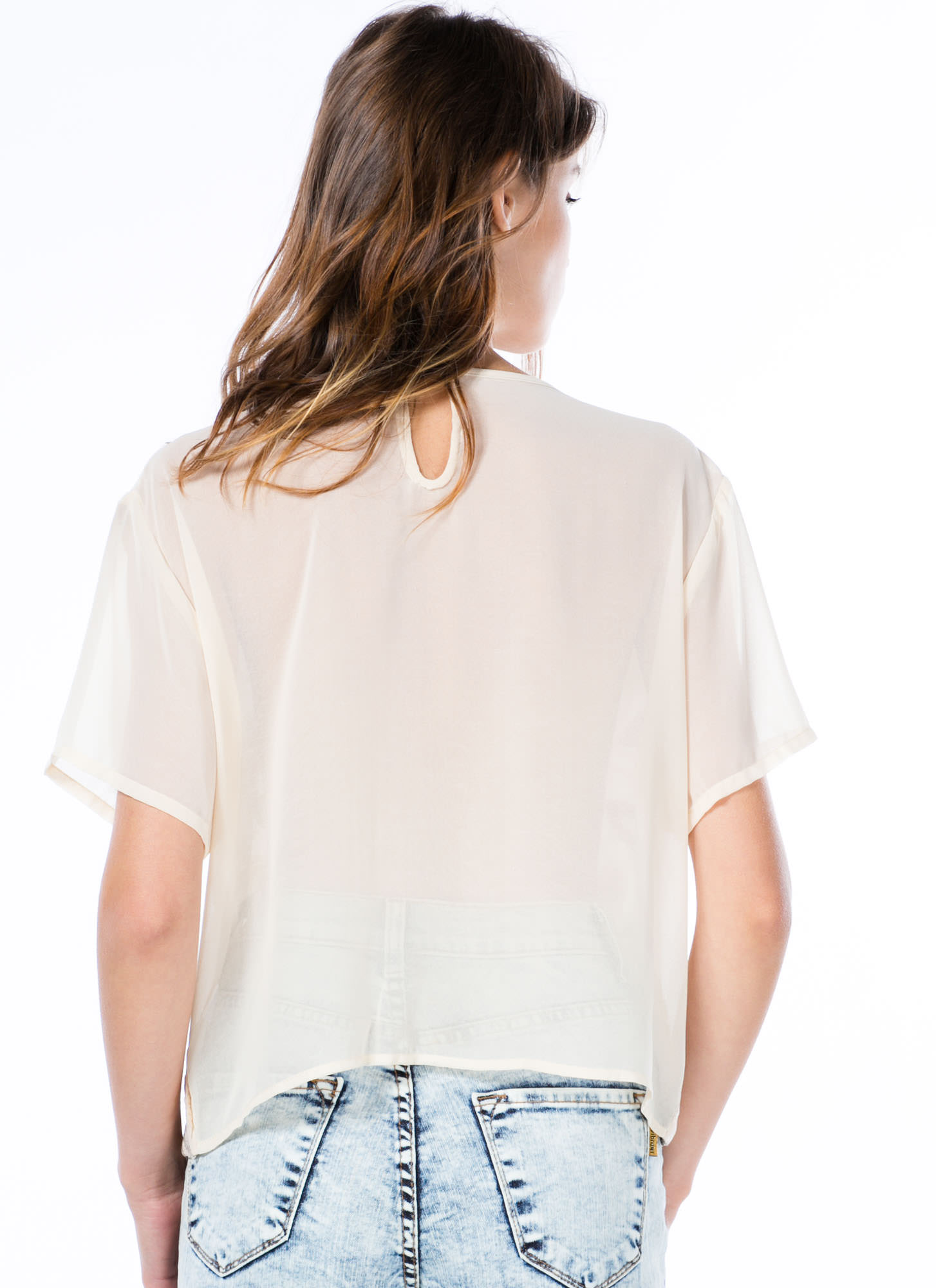Possibilities Sequined Boxy Blouse BEIGE