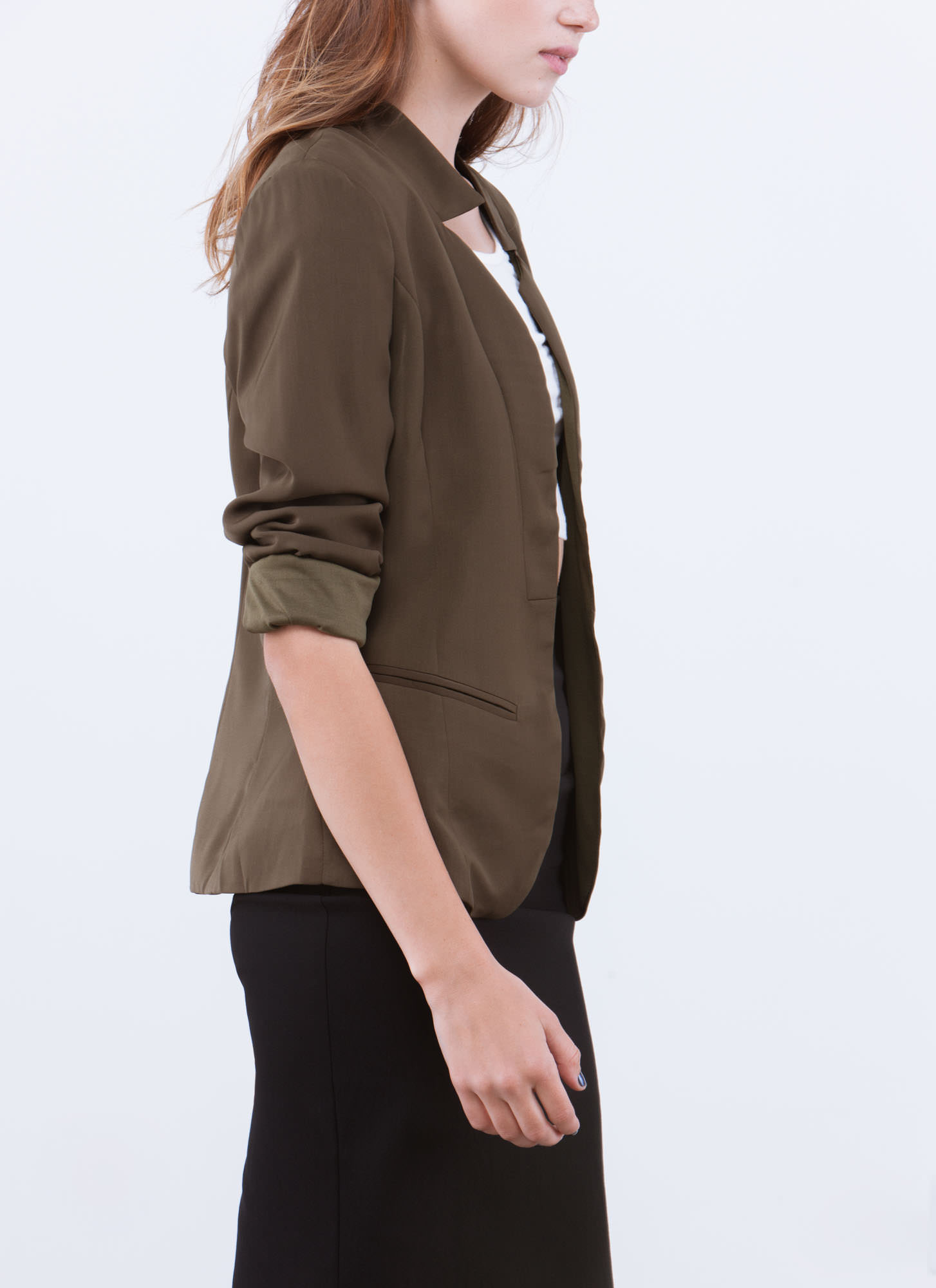 Big City Babe Blazer OLIVE