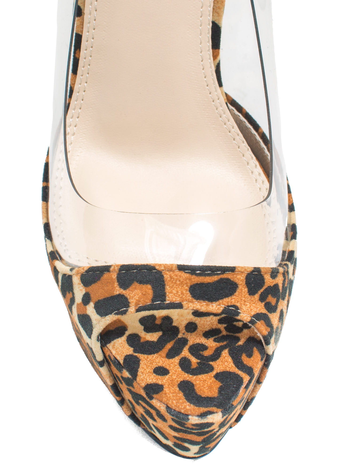 Power Move Velvet Platform Heels LEOPARD