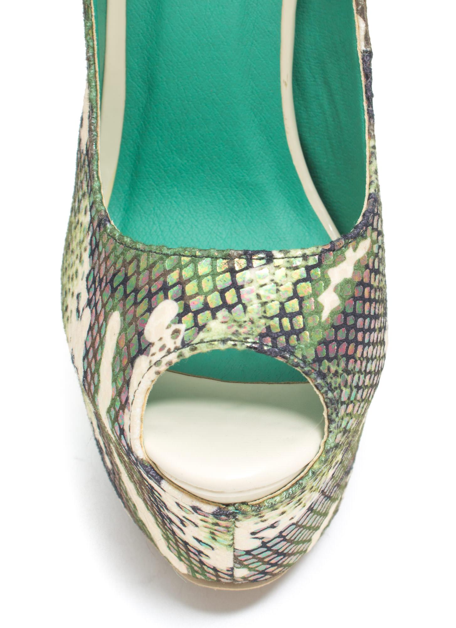 Scale Of A Time Iridescent Camo Heels GREEN