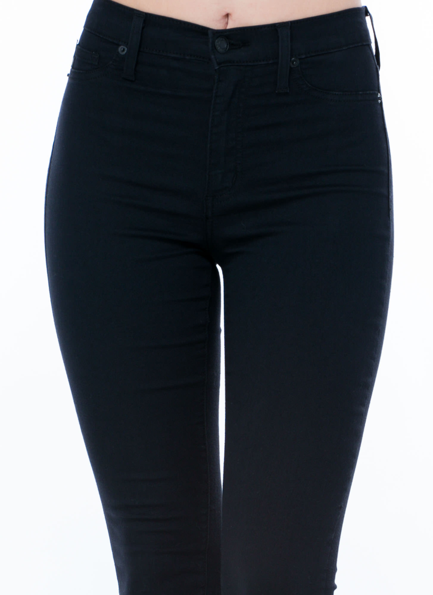 Basic Essential High-Waisted Jeans BLACK