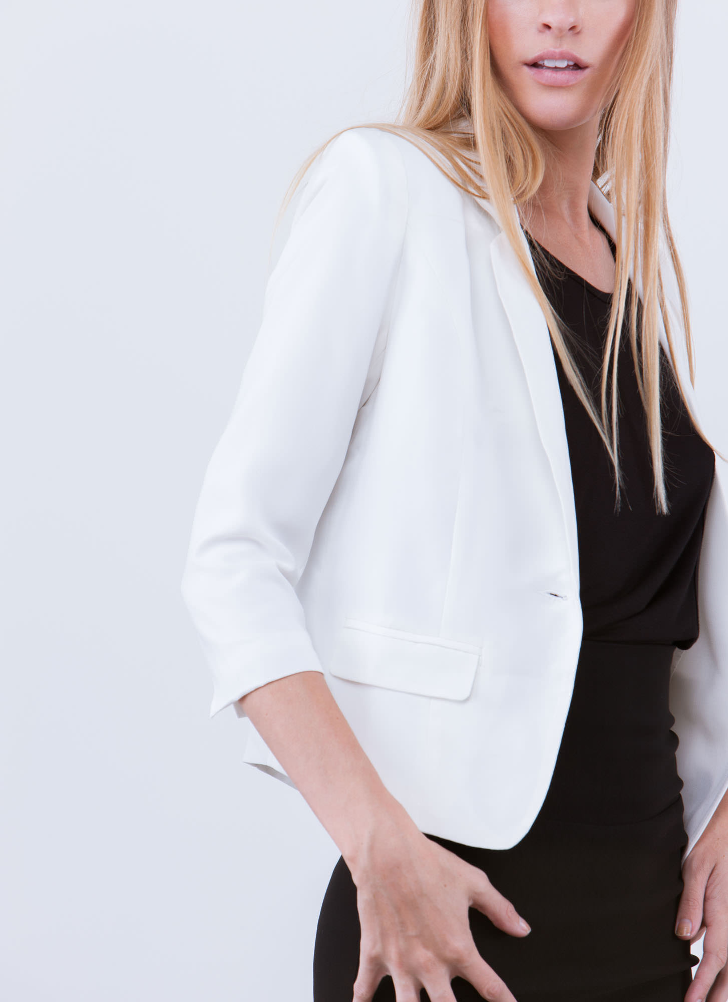 Nine To Five Basic Blazer IVORY