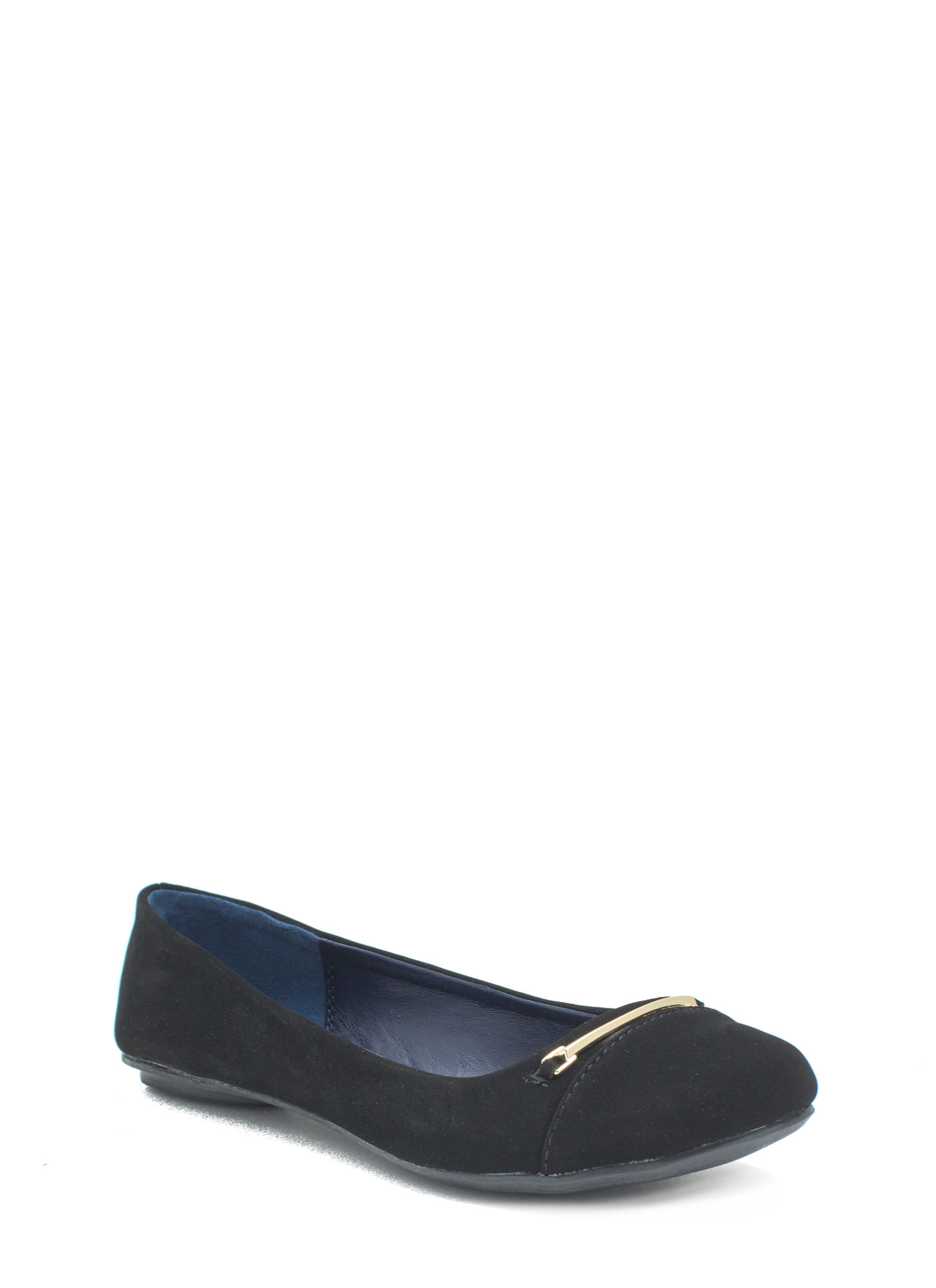 Bar Hopper Faux Nubuck Flats BLACK
