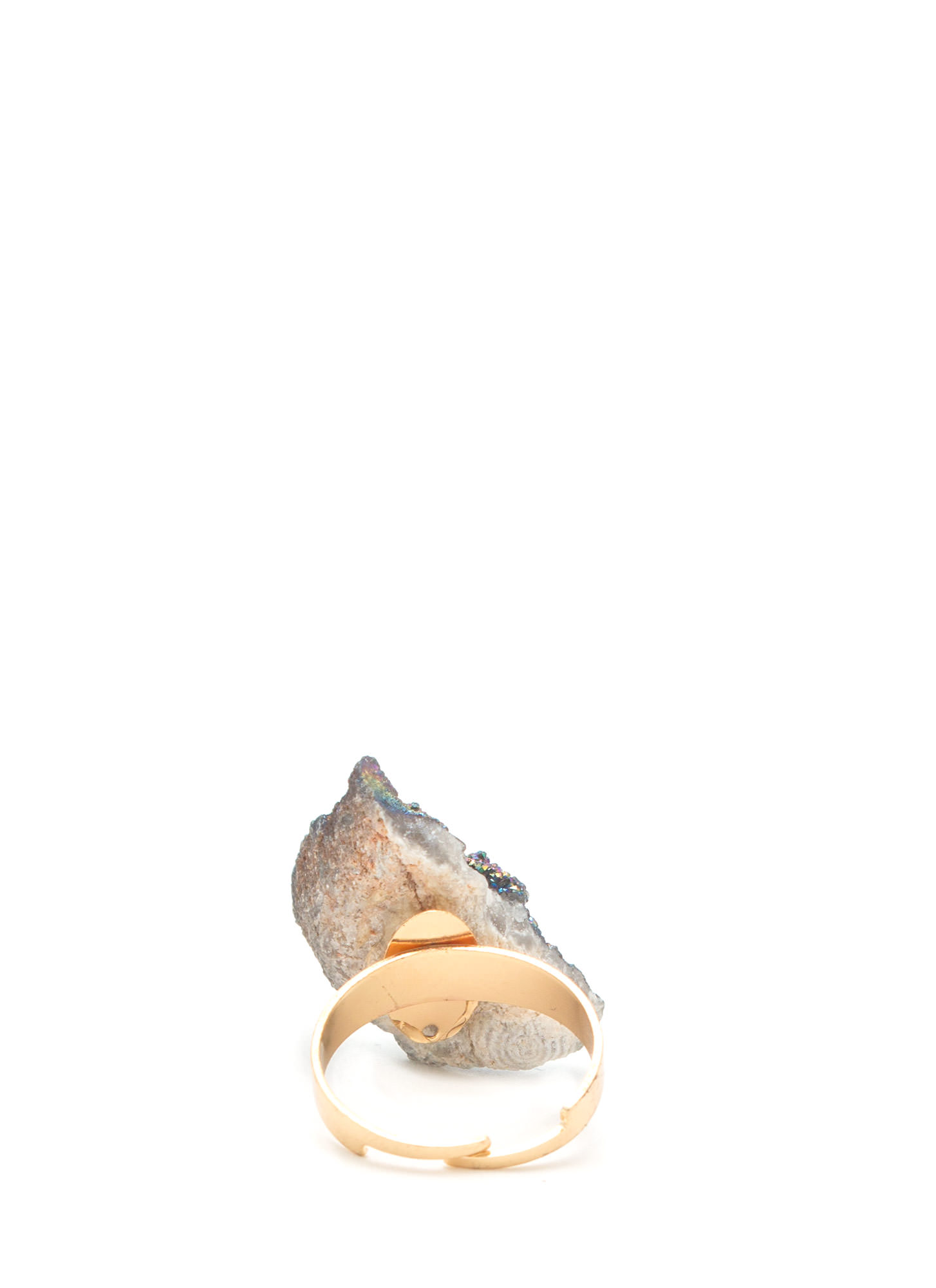 Mined Stone Ring PEWTERMULTI