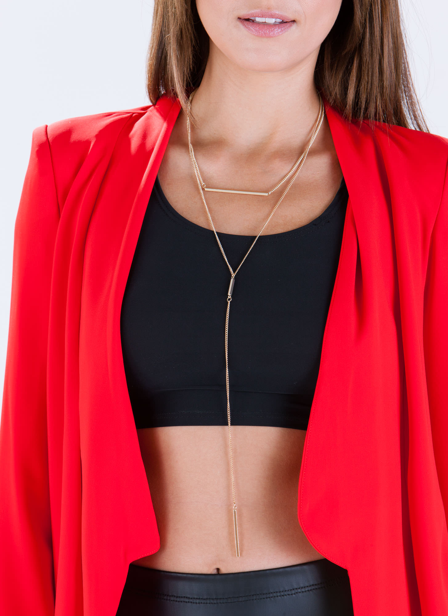Bar None Layered Necklace GOLD