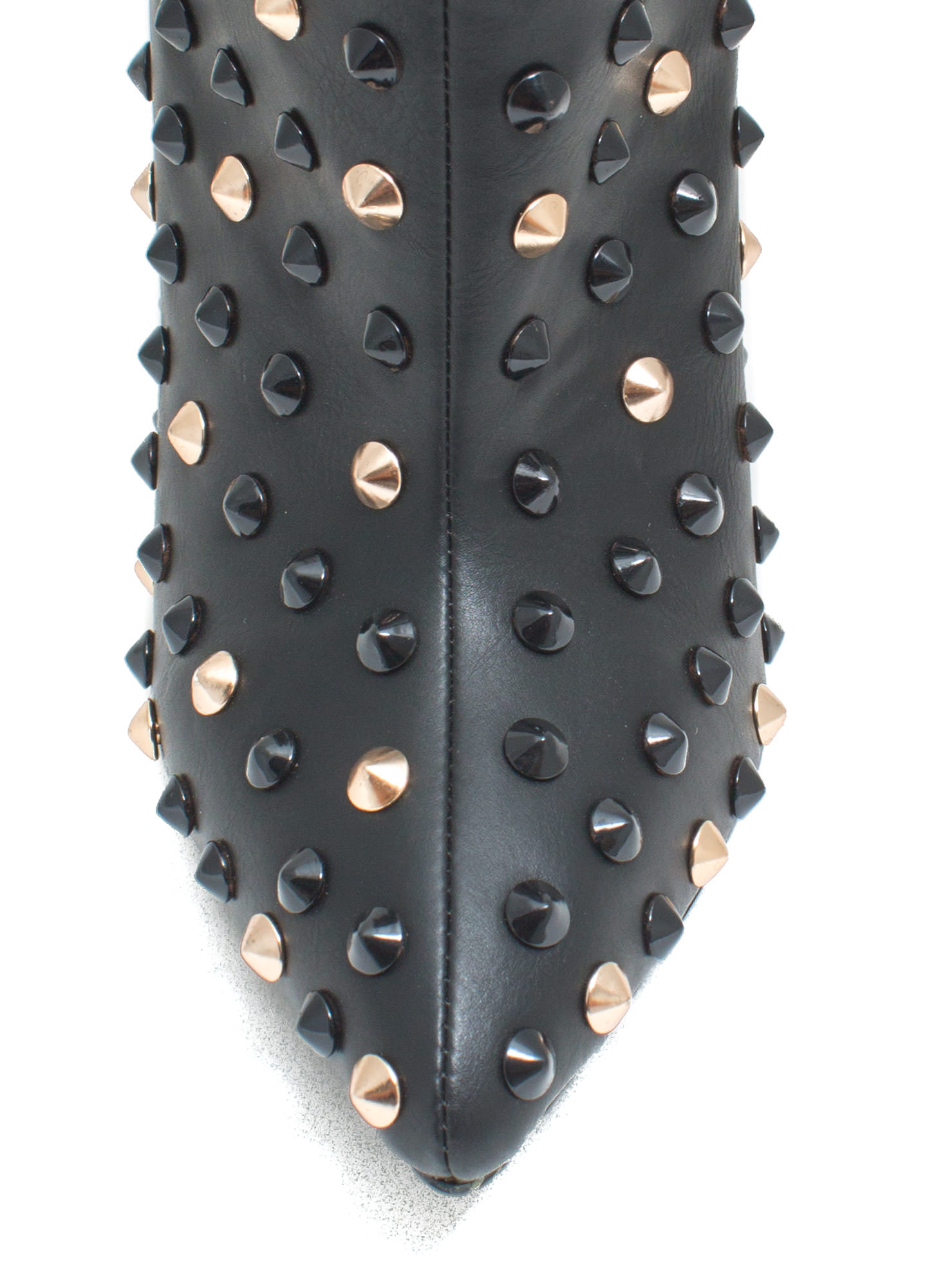 Studded Queen Pointy Booties BLACK