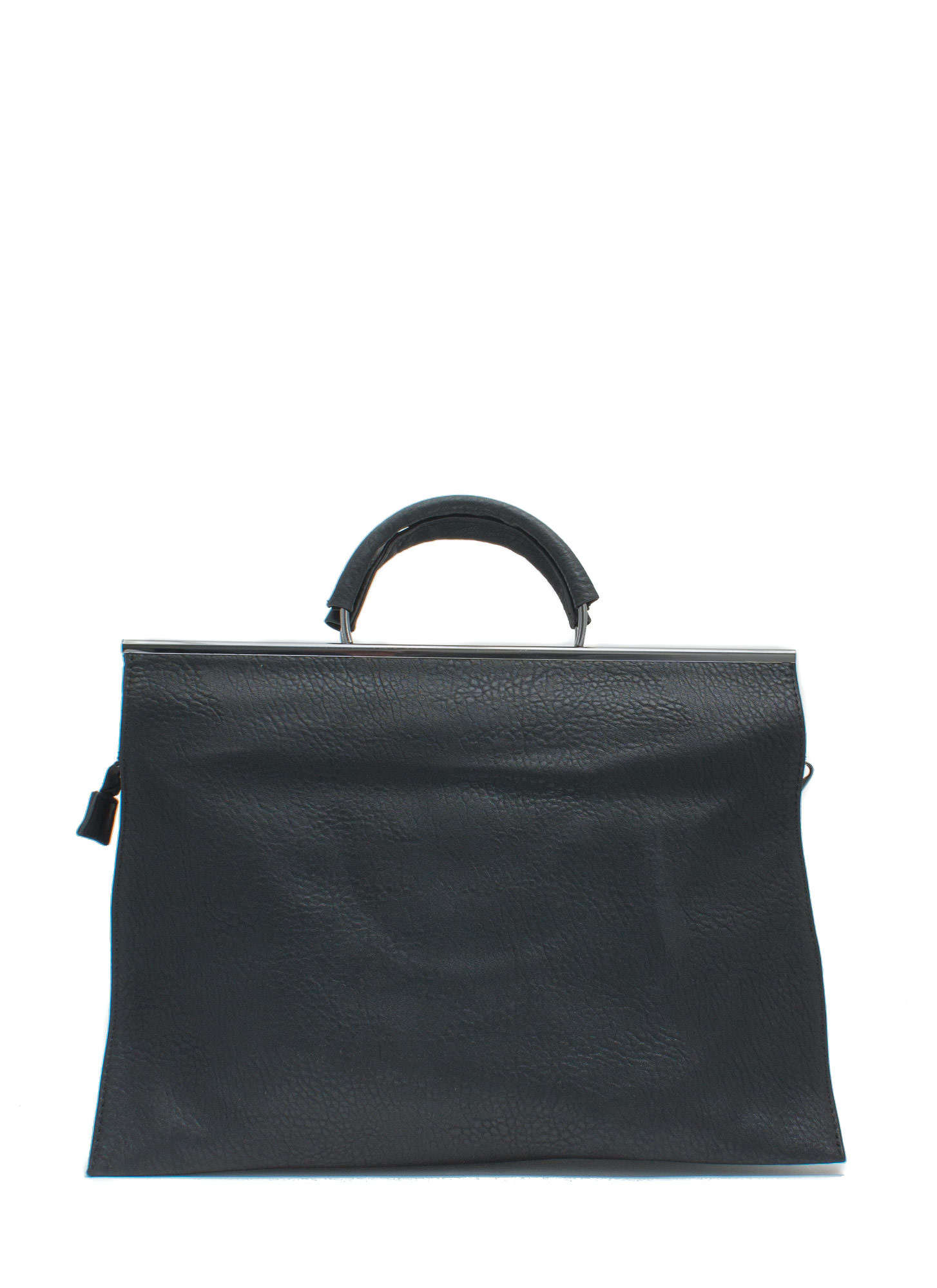 Layered Edges Briefcase Bag BLACK