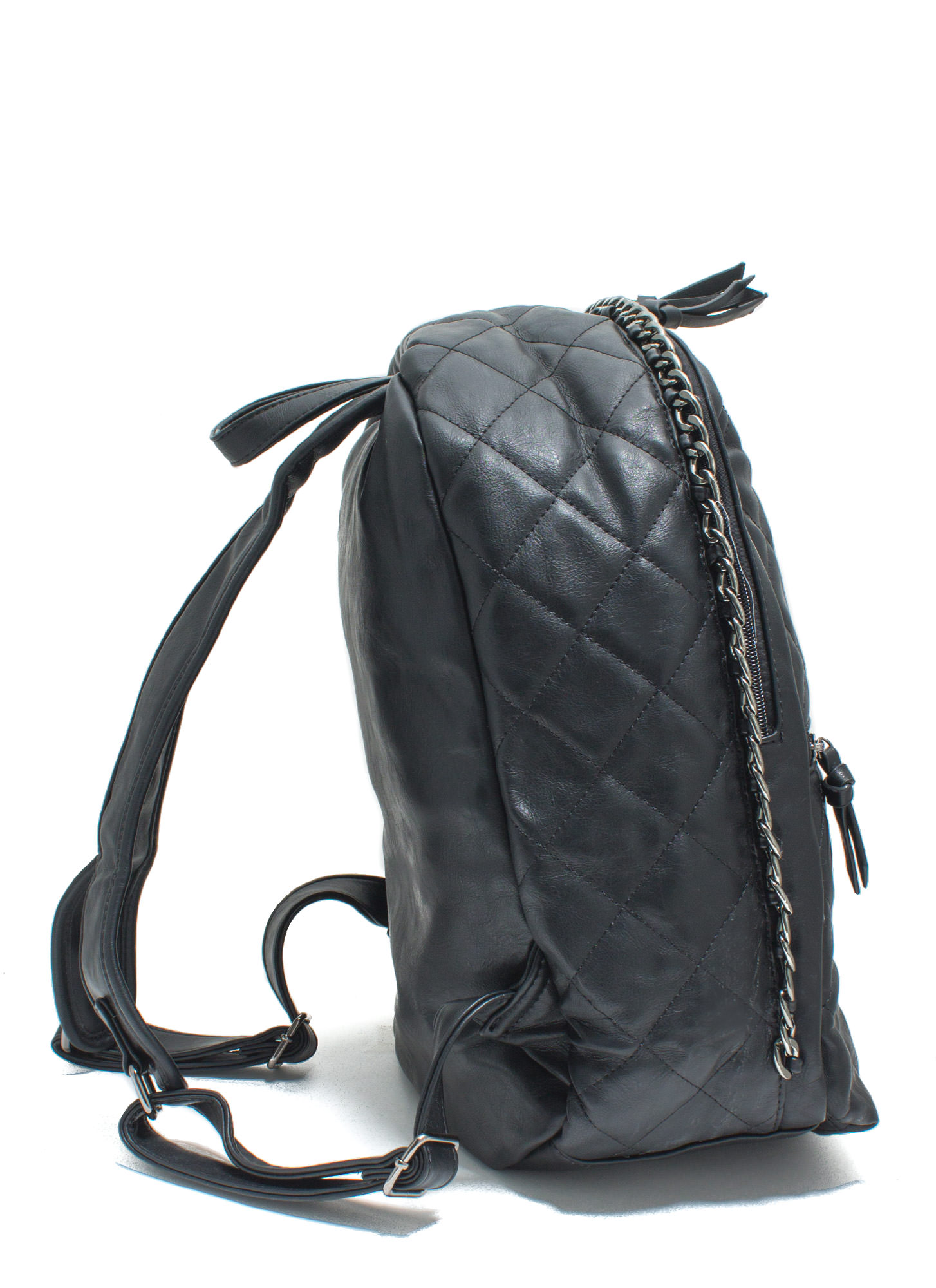 Quilty Conscience Faux Leather Backpack BLACK