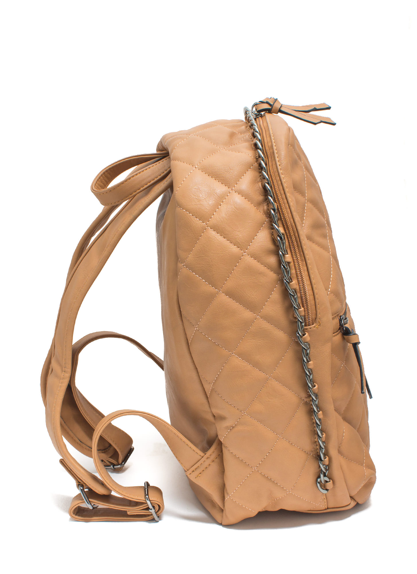 Quilty Conscience Faux Leather Backpack CAMEL