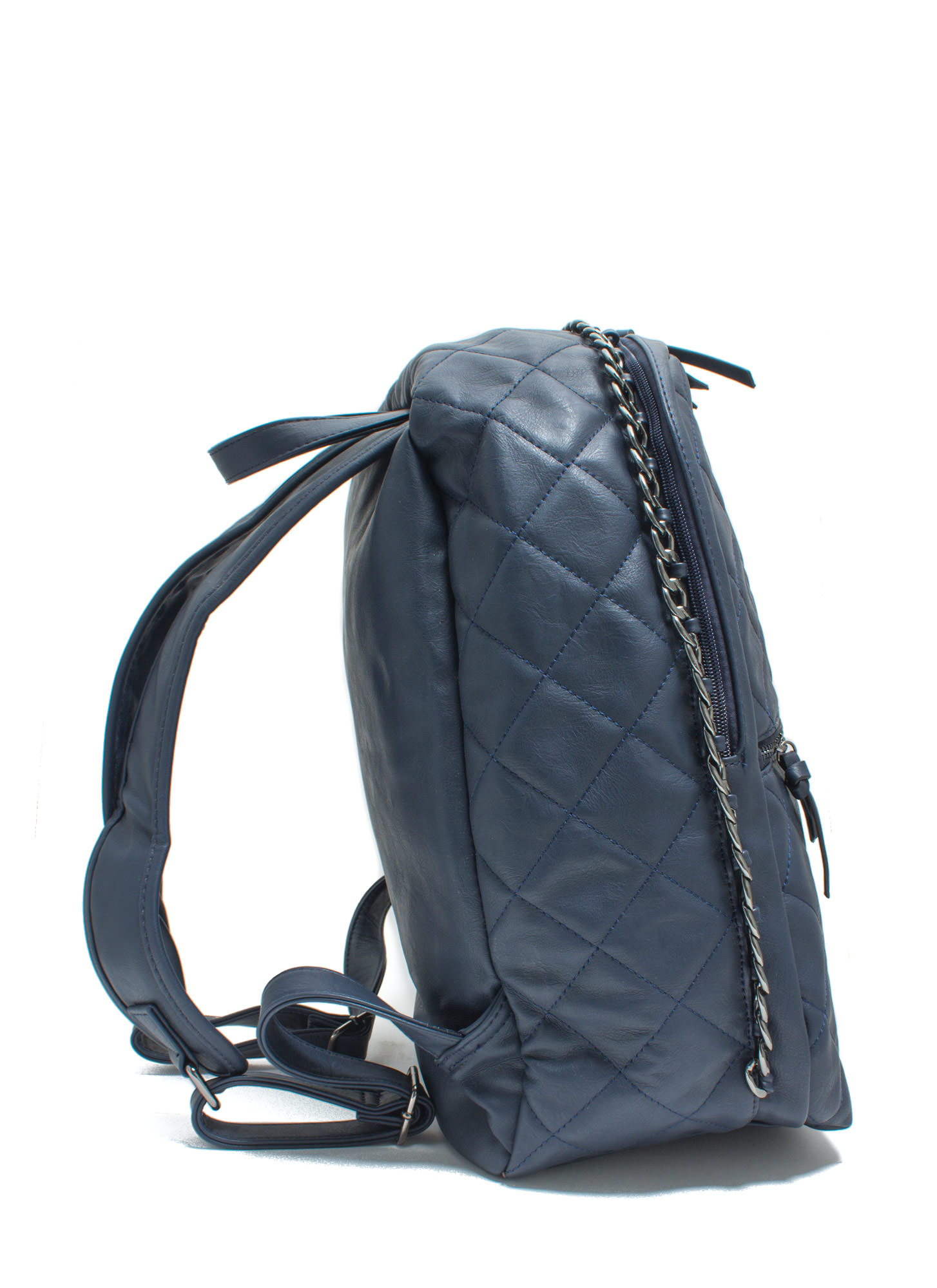 Quilty Conscience Faux Leather Backpack NAVY